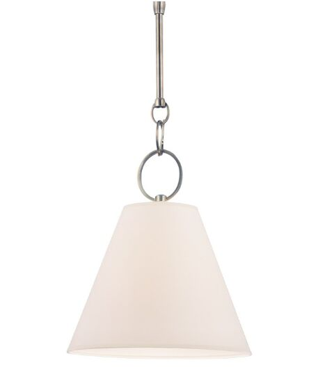 Molly 1-Light Cone Shade Mini Pendant Finish: Historic Nickel, Size: 16.75