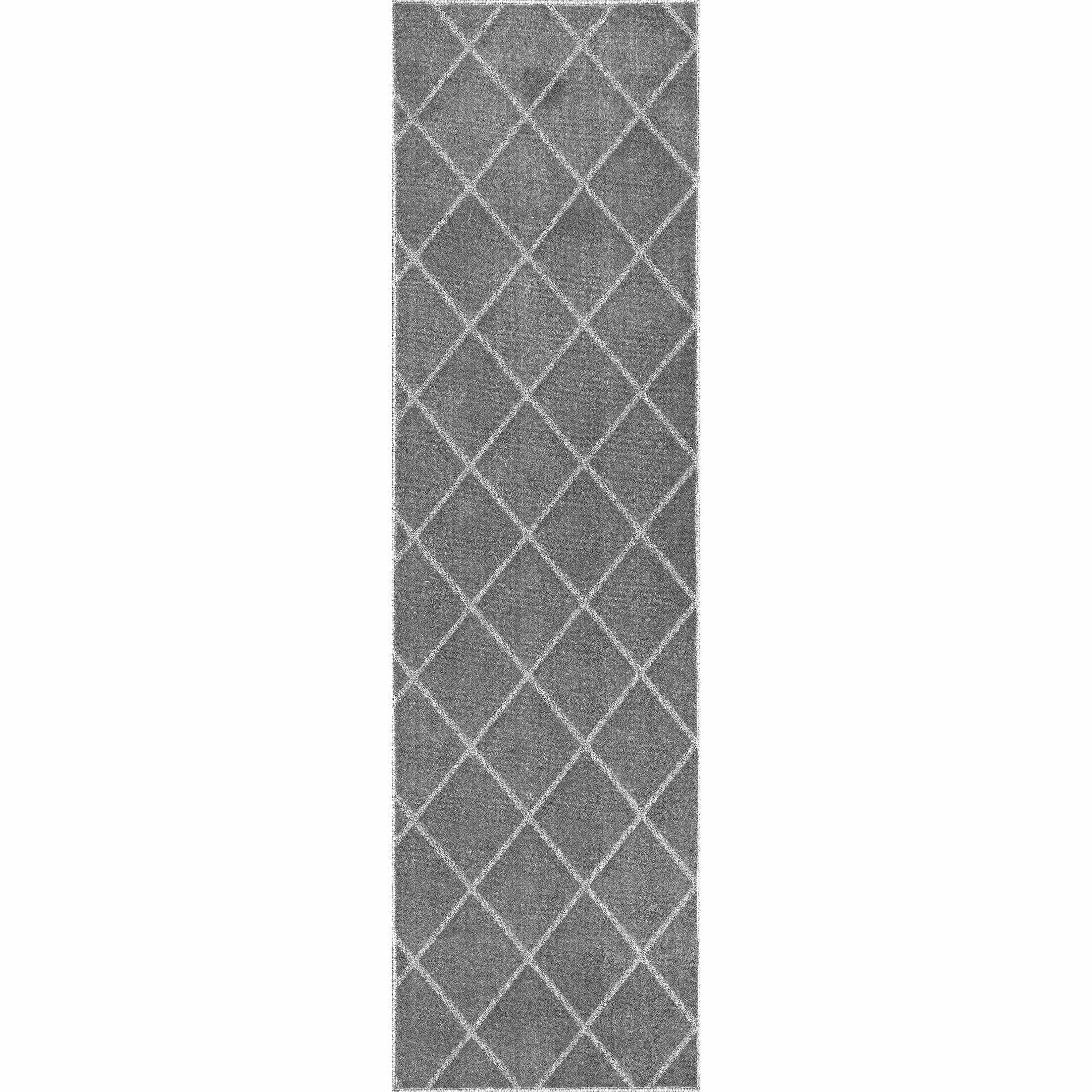 Celestyna Hand-Tufted Gray Area Rug Rug Size: Runner 2'3