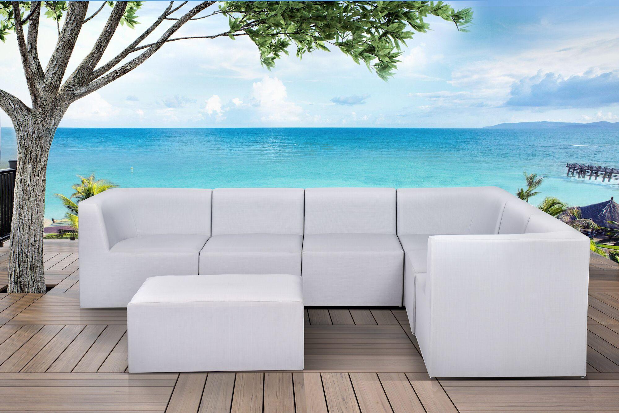 Pruett 7 Piece Modular Sectional with Cushions