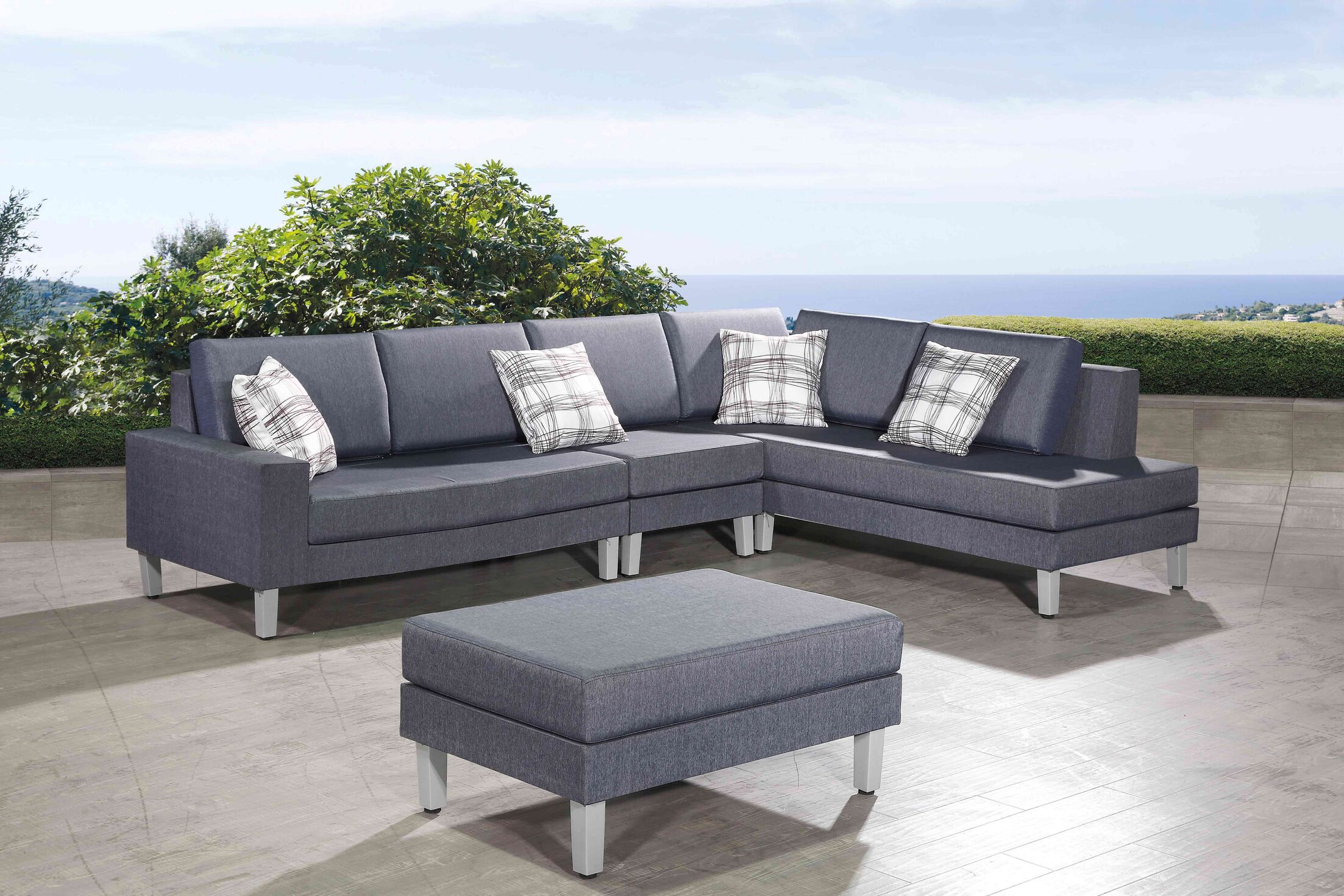 Pruitt 4 Piece Sectional Seating Group with Cushions