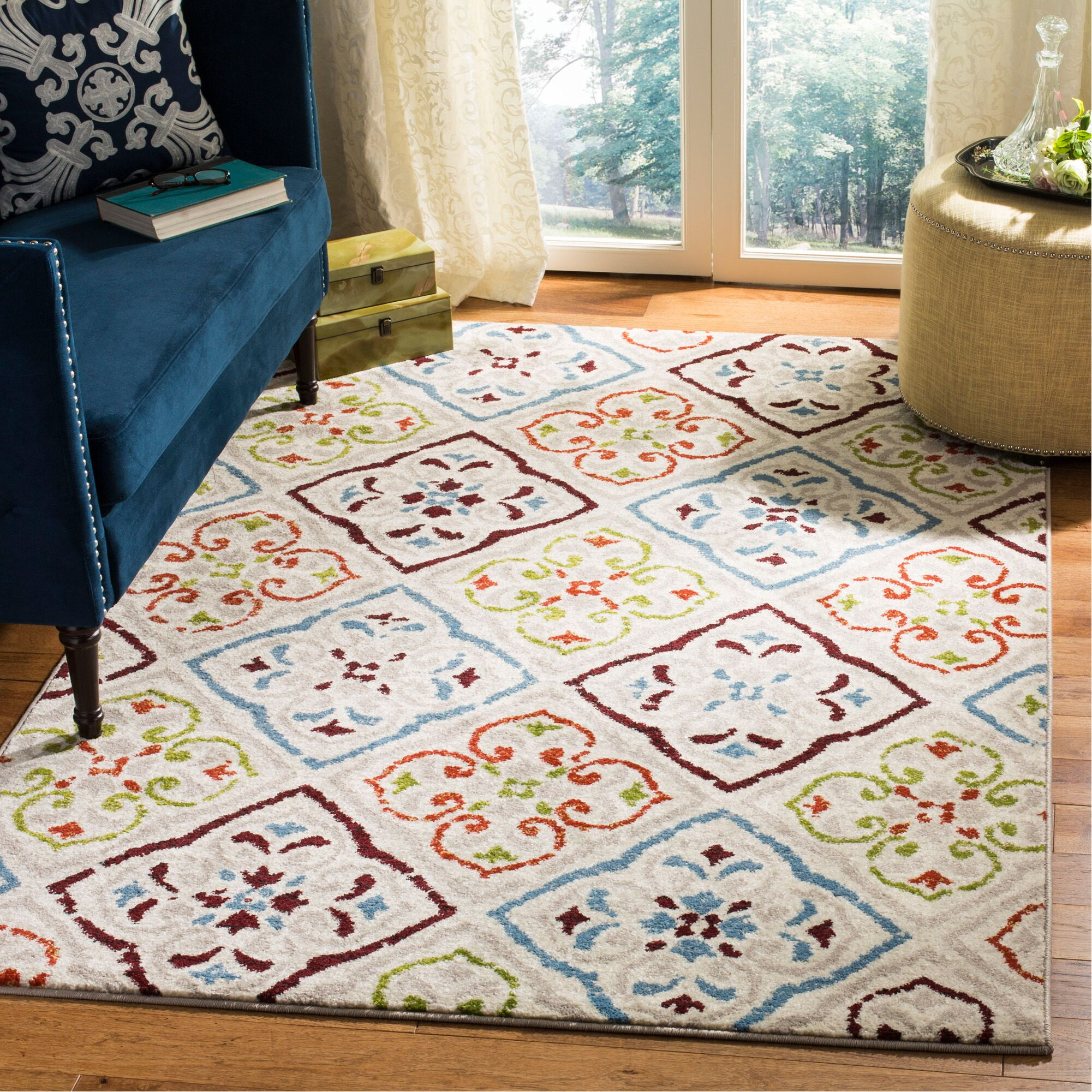Lori Beige Area Rug Rug Size: Rectangle 5'1