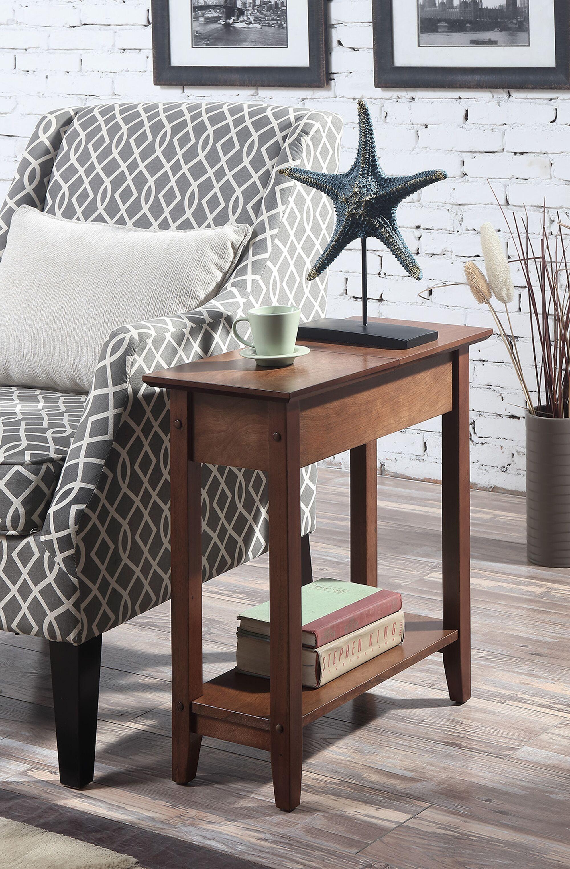Lucile Flip Top End Table Color: Dark Walnut