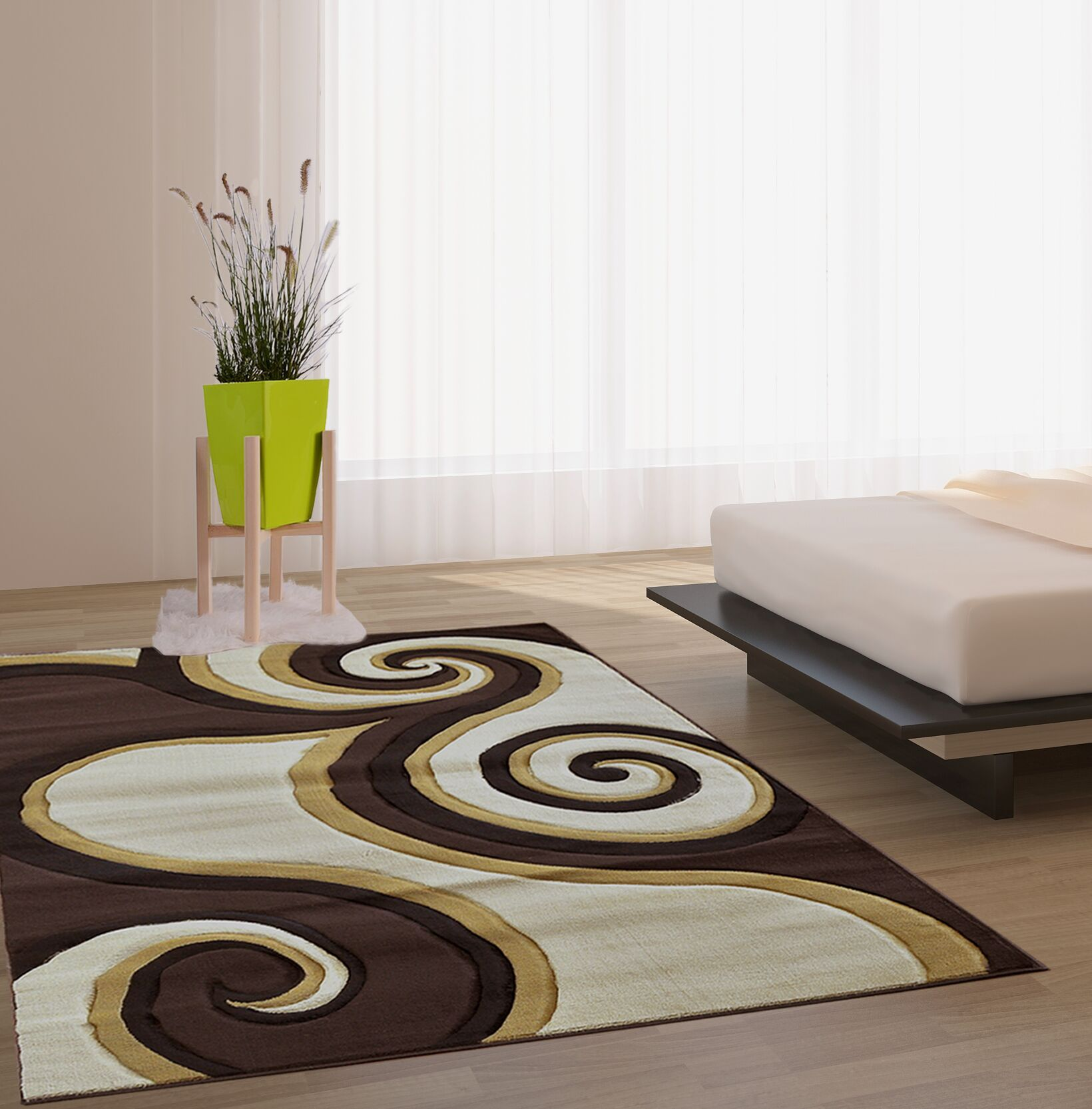Hartmann Brown Area Rug Rug Size: Runner 2'7