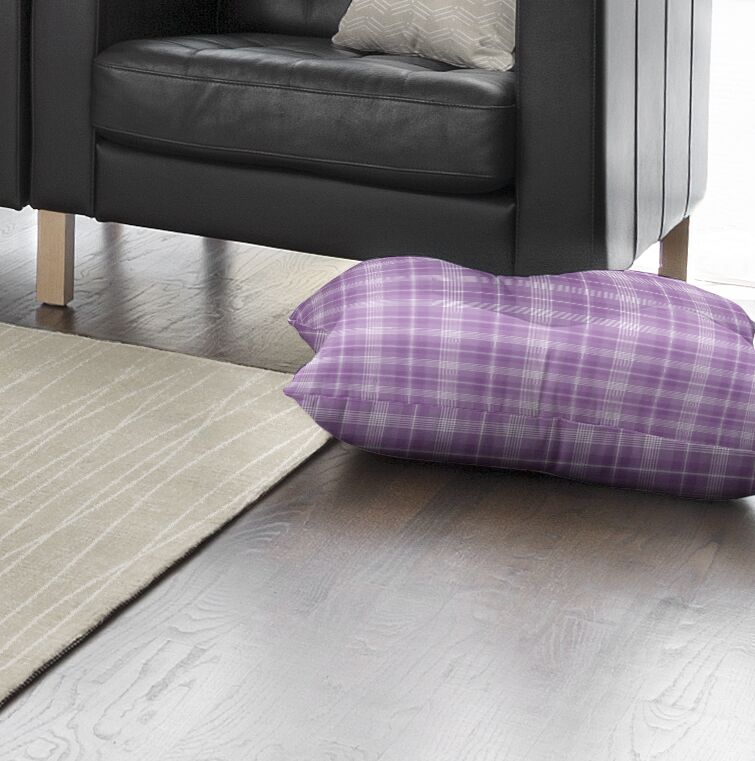 Abingdon Plaid Indoor/Outdoor Floor Pillow Size: 26