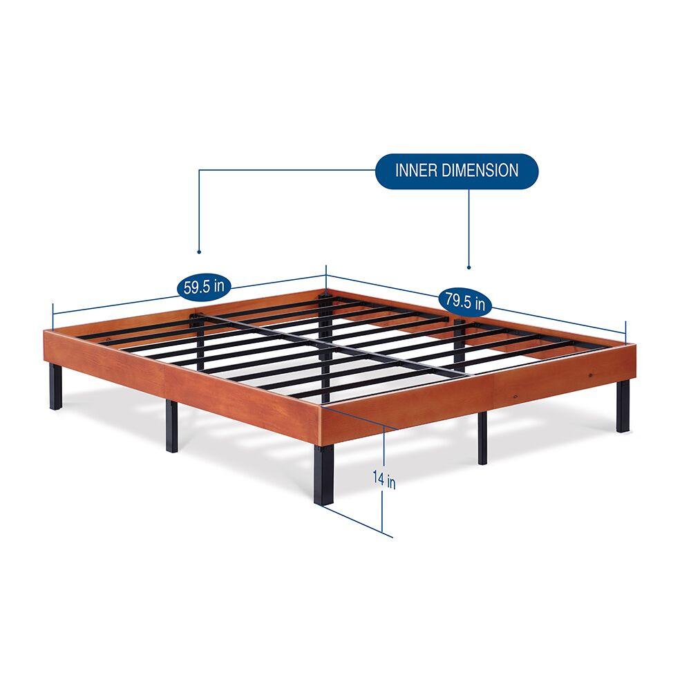 Classic Soild Wood Platform Bed Frame Color: Cherry, Size: Queen