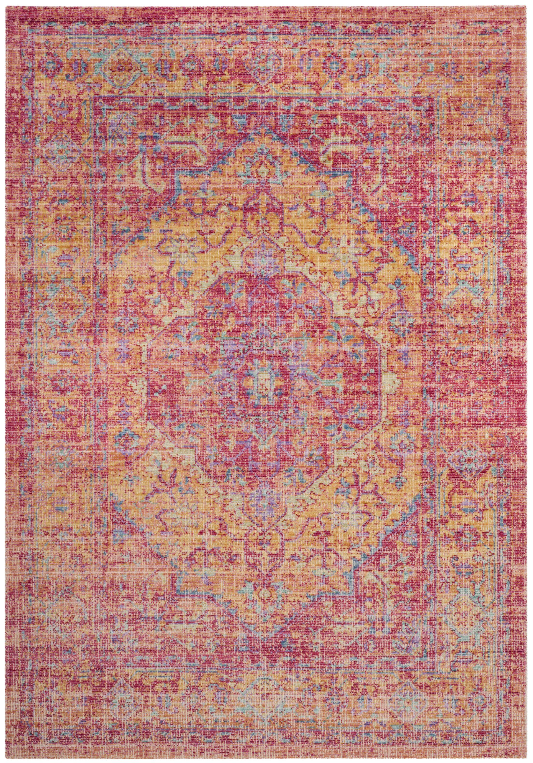 Bangou Pink Area Rug Rug Size: Rectangle 8' x 10'