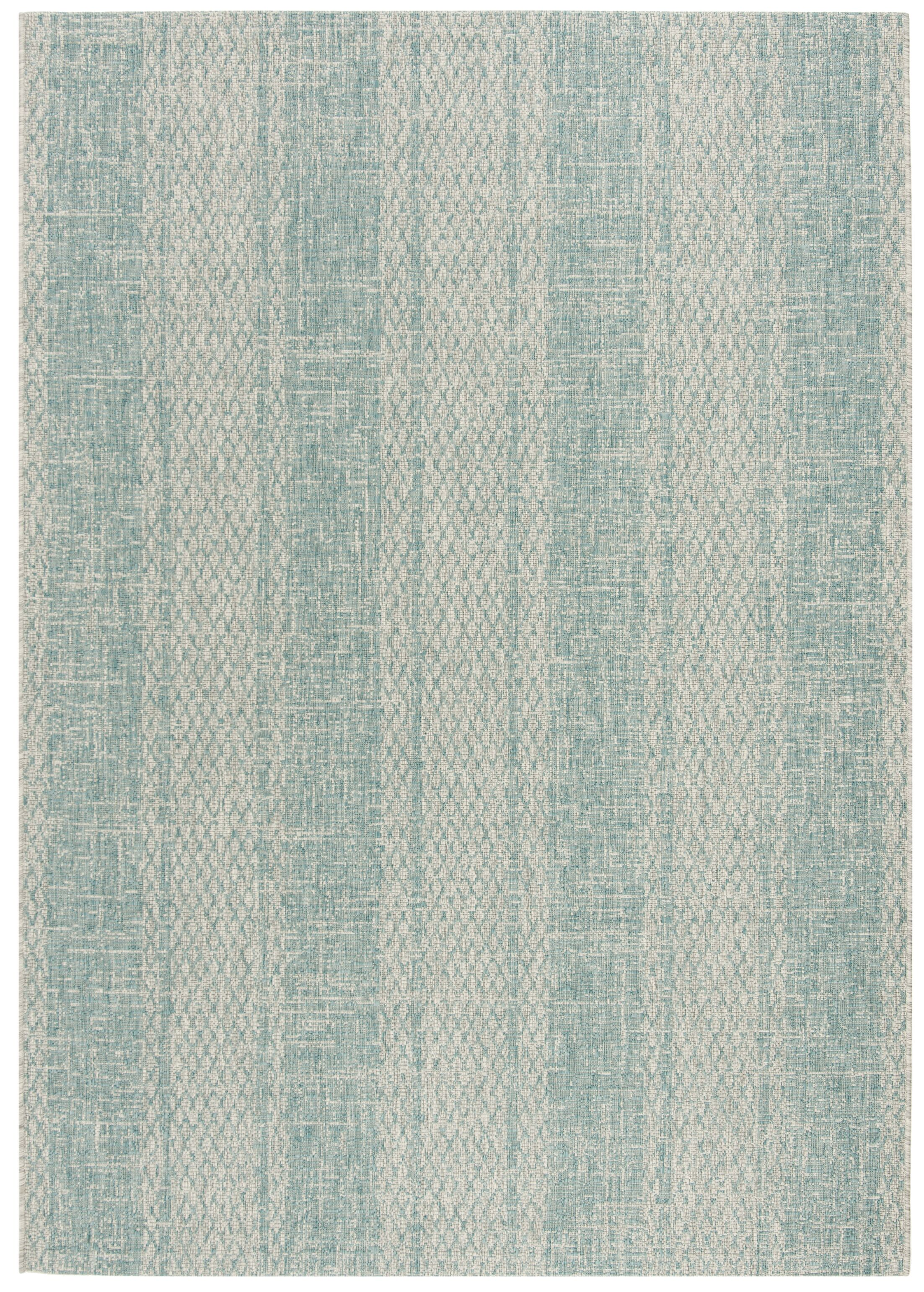 Myers Abstract Gray/Aqua Indoor/Outdoor Area Rug Rug Size: Square 6'7