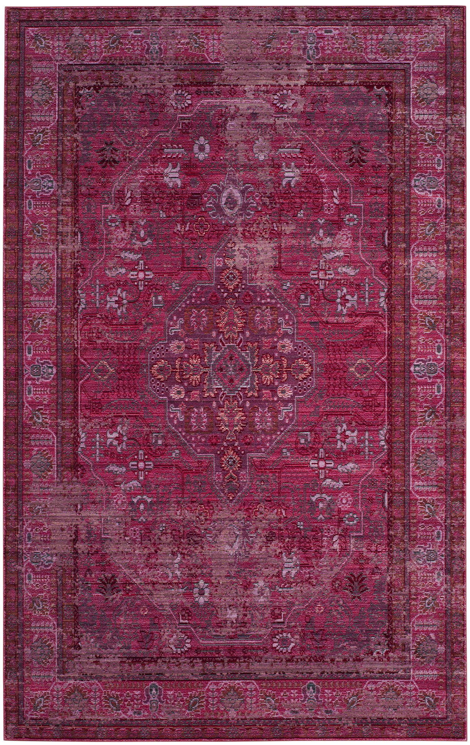 Privette Red Area Rug Rug Size: Rectangle 5' x 8'