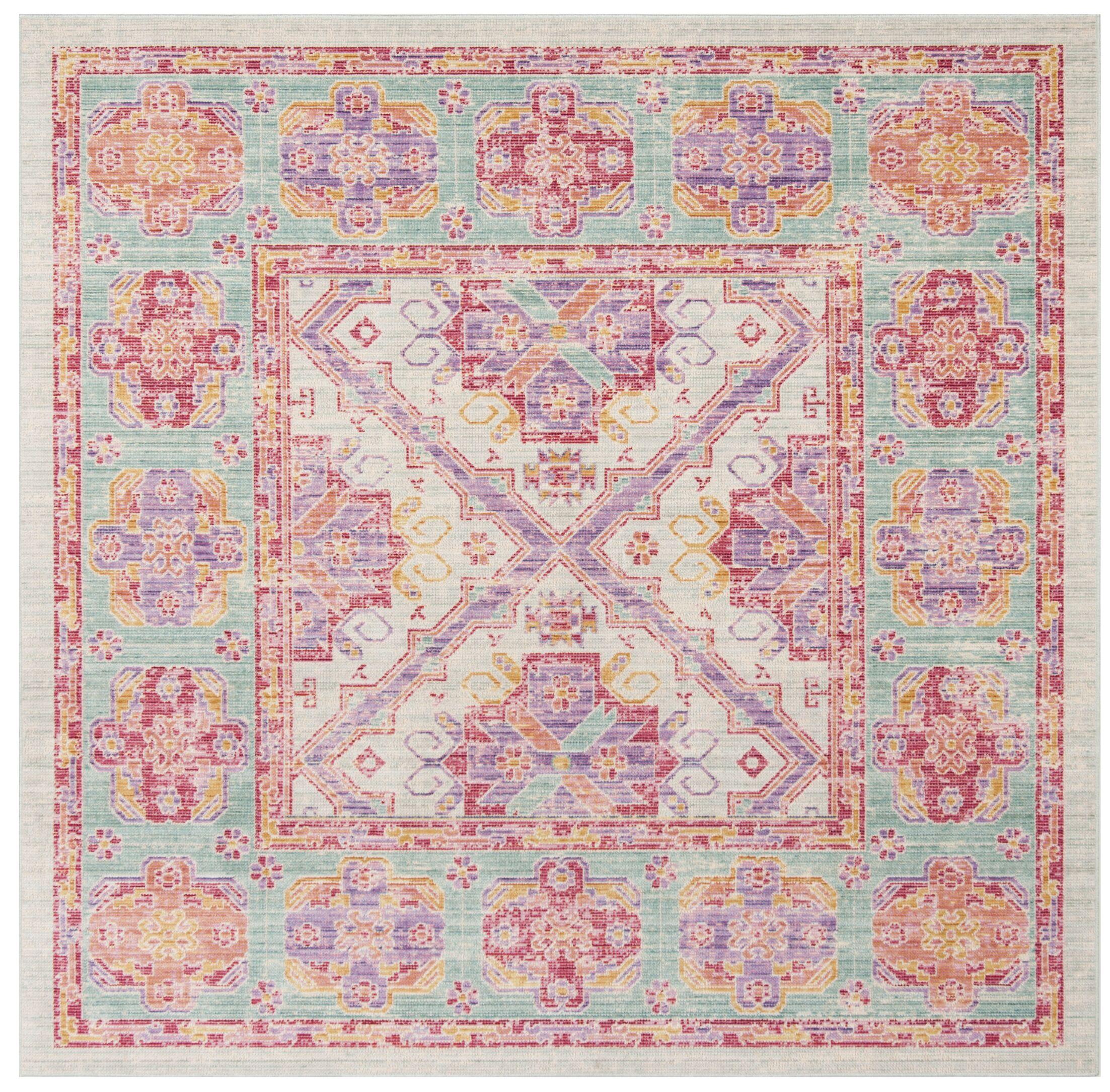 Bangou Spa/Fuchsia Area Rug Rug Size: Square 6'