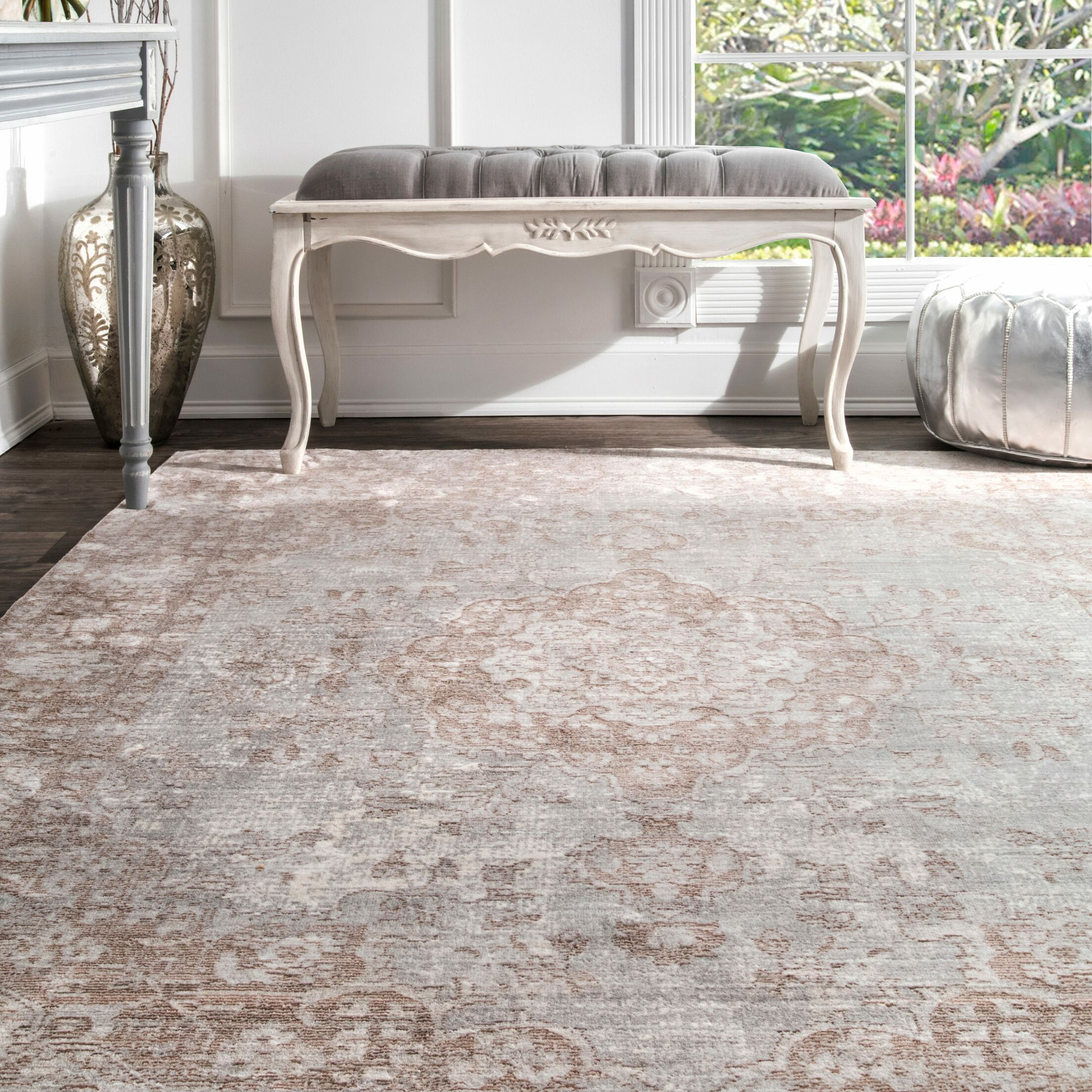 Calantha Beige Area Rug Rug Size: Rectangle 5'3