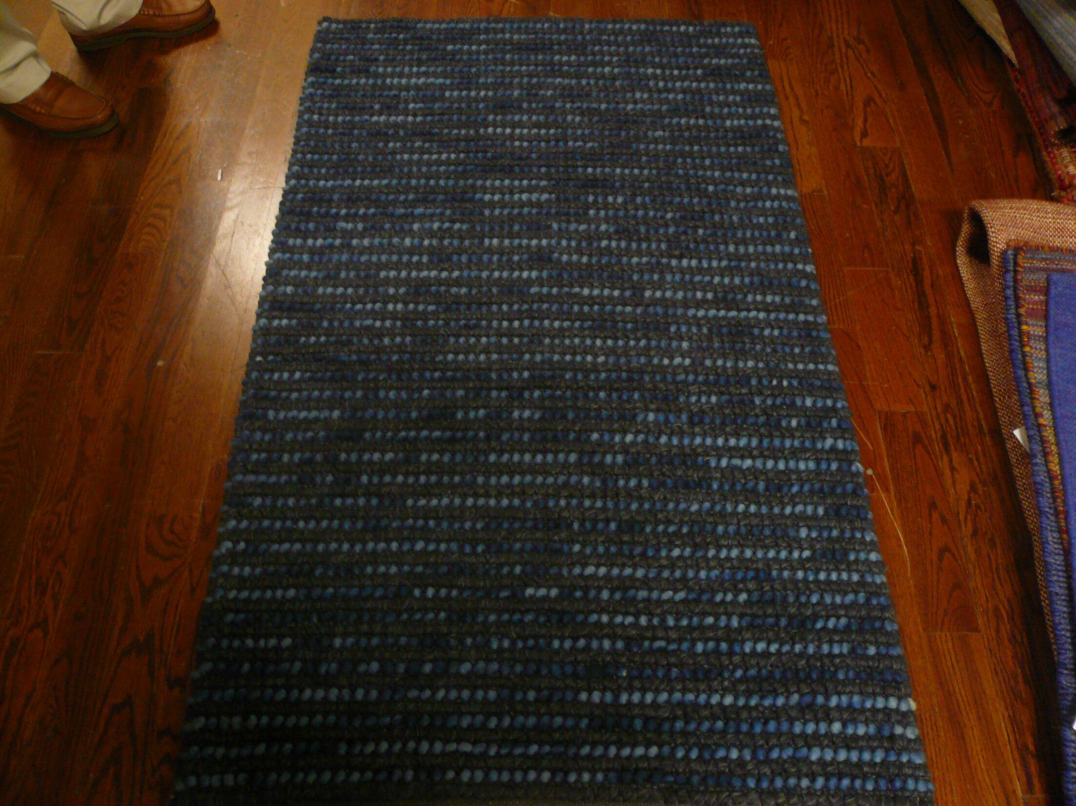 Makhi Hand-Knotted Dark Blue Area Rug Rug Size: Runner 2'6