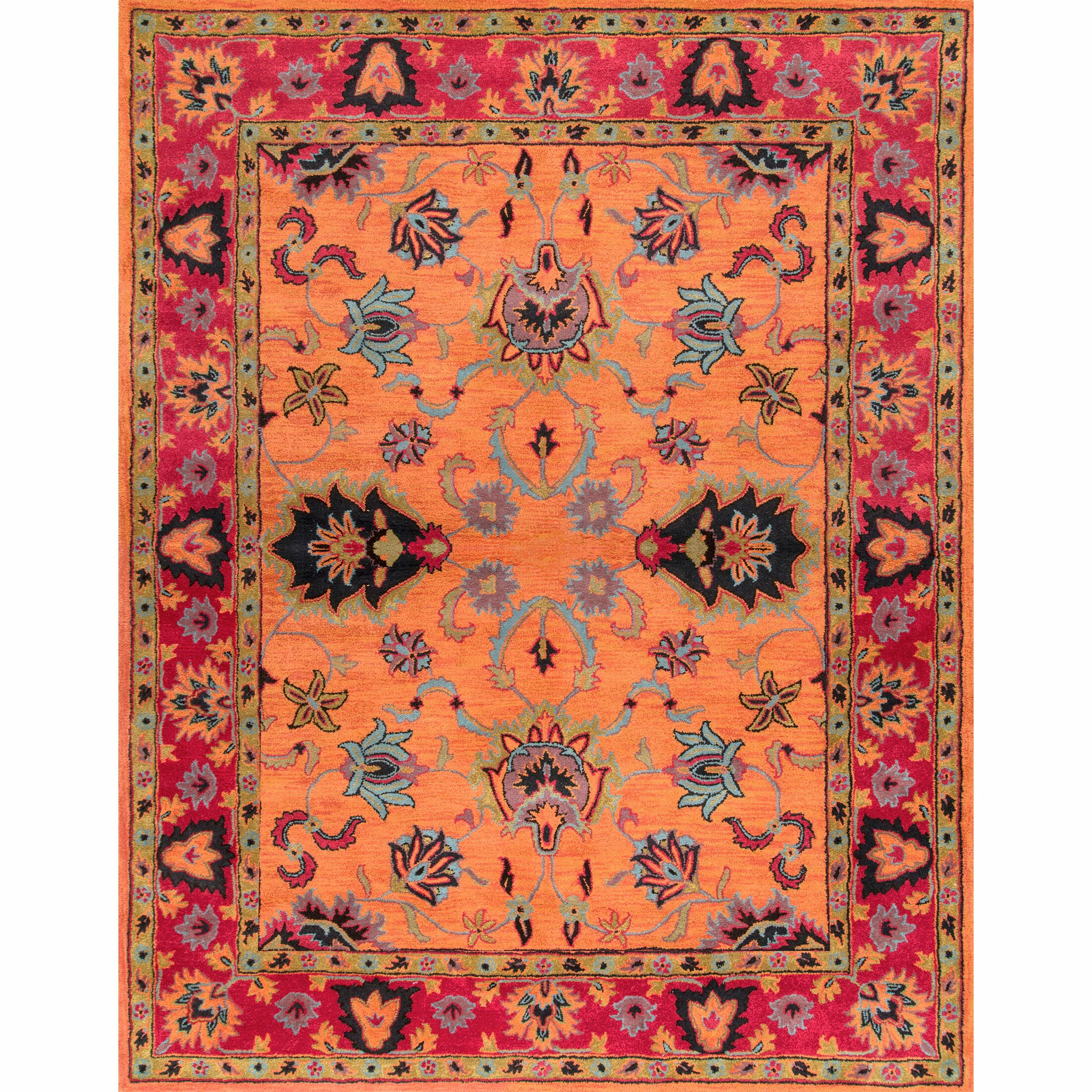 Porter Orange Area Rug Rug Size: Rectangle 7'6