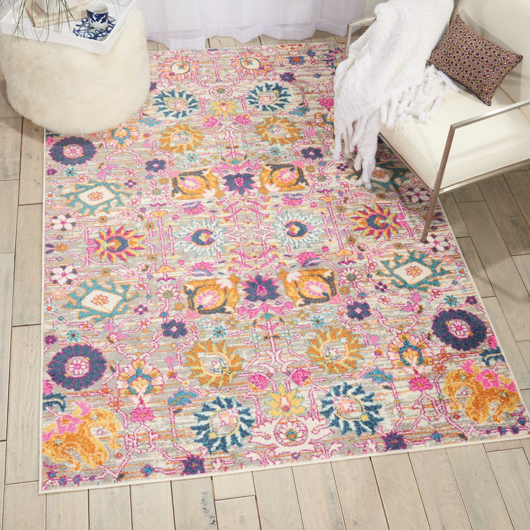 Shortwood Silver Indoor Area Rug Rug Size: Rectangle 8' x 10'