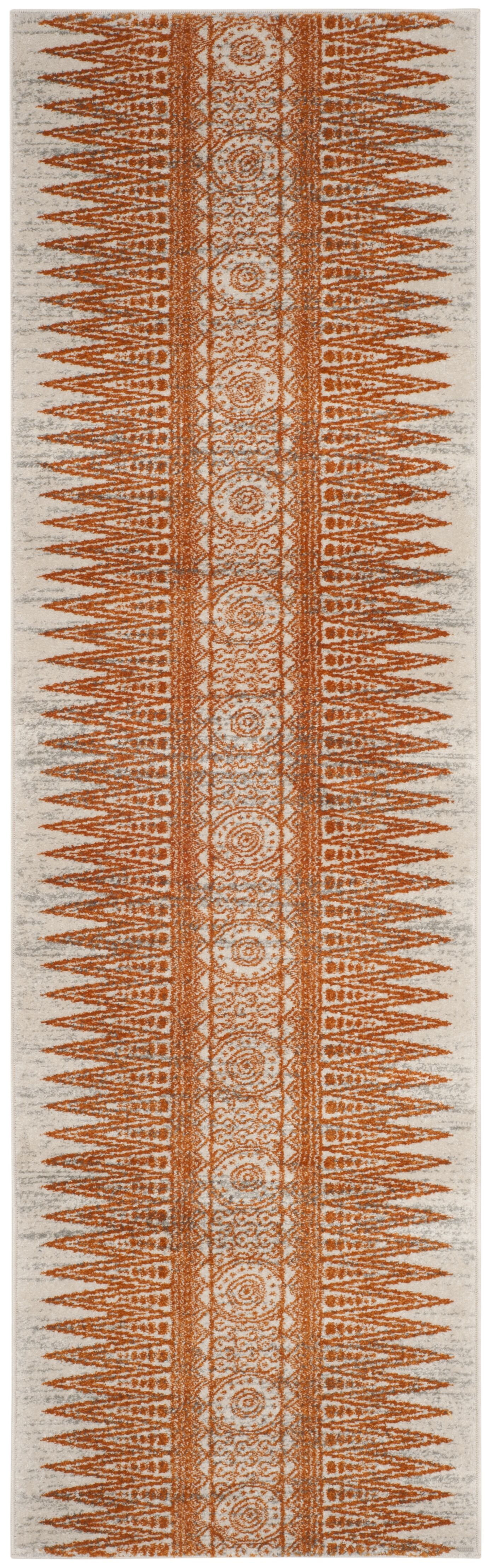 Elson Ivory/Orange Area Rug Rug Size: Runner 2'2