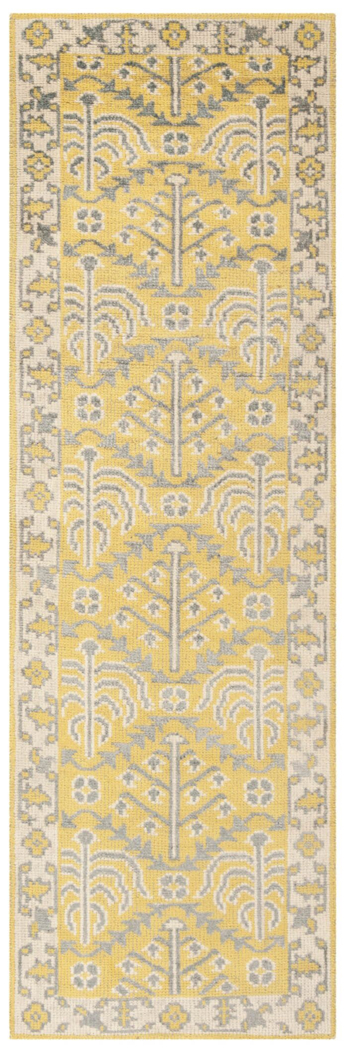 Maisie Yellow Rug Rug Size: Runner 2'6