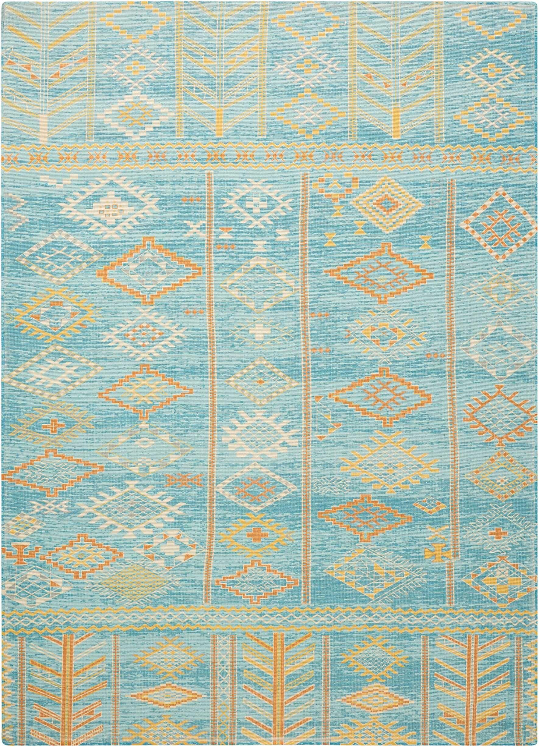 Wilkerson Sky Blue Area Rug Rug Size: Rectangle 3'6