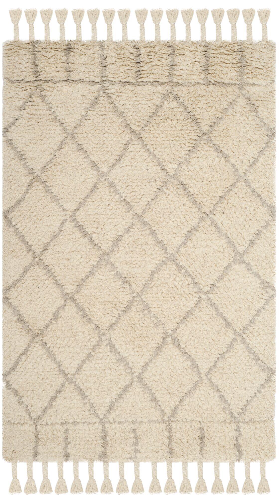 Livingston Hand-Tufted Beige Area Rug Rug Size: Rectangle 4' x 6'