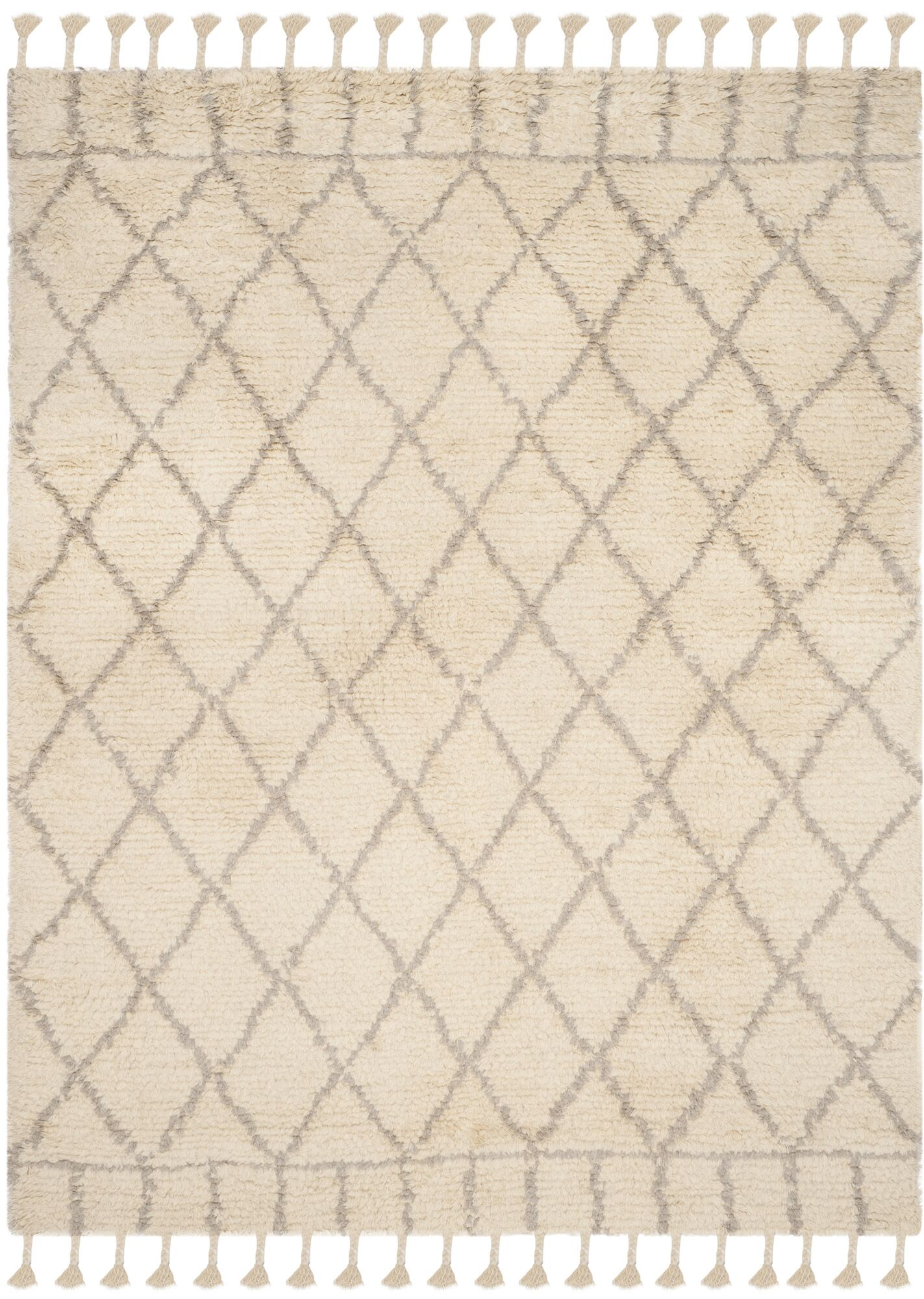 Livingston Hand-Tufted Beige Area Rug Rug Size: Rectangle 8' x 10'