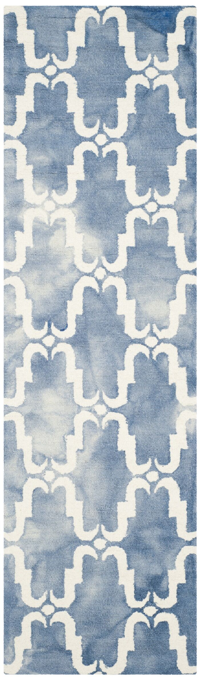 Medfield Hand-Tufted Blue/Ivory Area Rug Rug Size: Runner 2'3