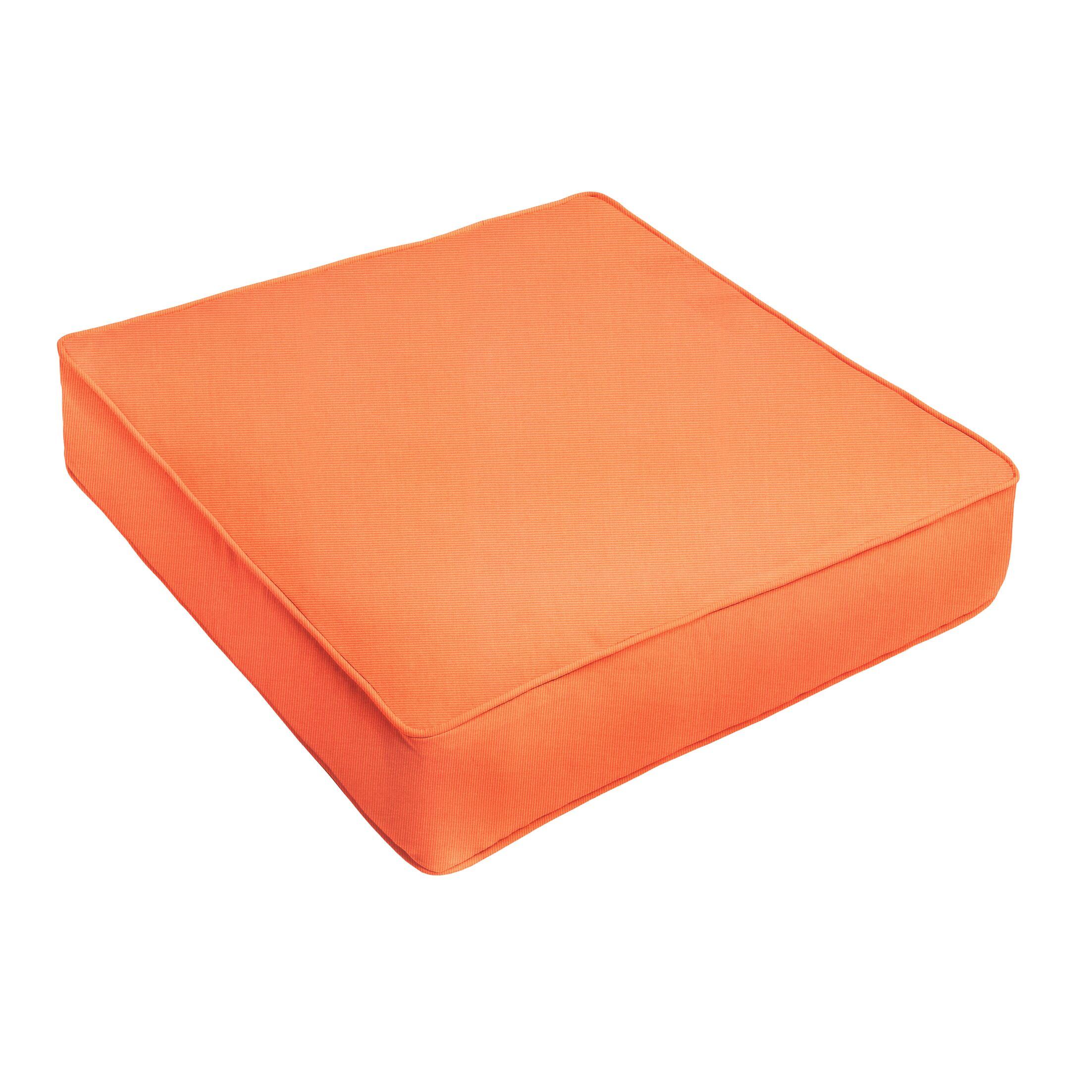 Outdoor Sunbrella Ottoman Cushion Color: Sunbrella Canvas Tangerine