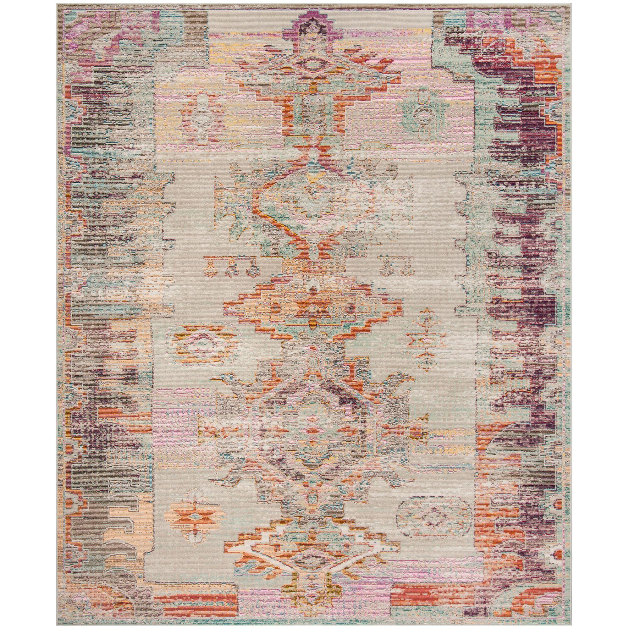 Chaya Light Gray/Purple Area Rug Rug Size: Rectangle 8' x 10'