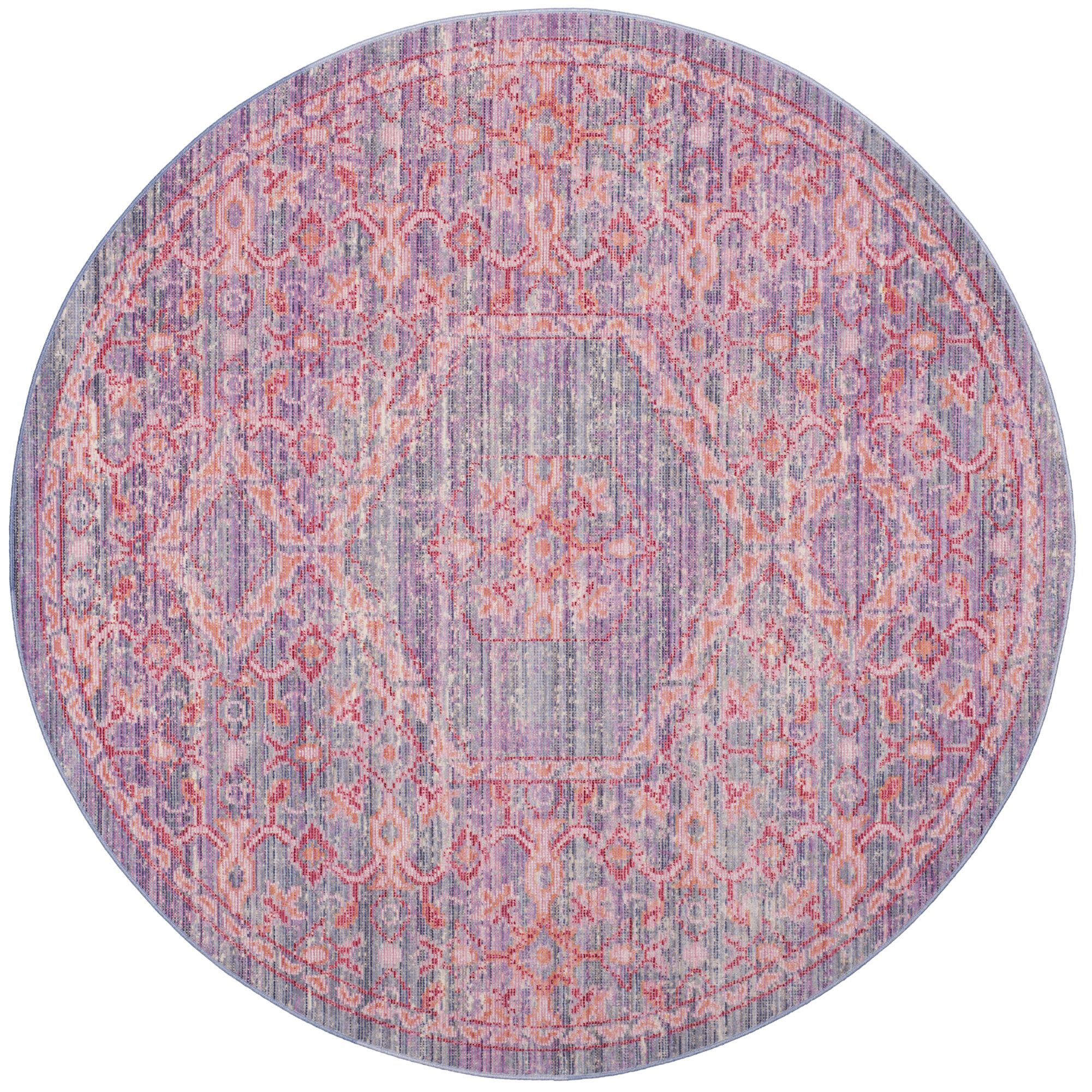 Bangou Lavender/Fuchsia Area Rug Rug Size: Round 6'