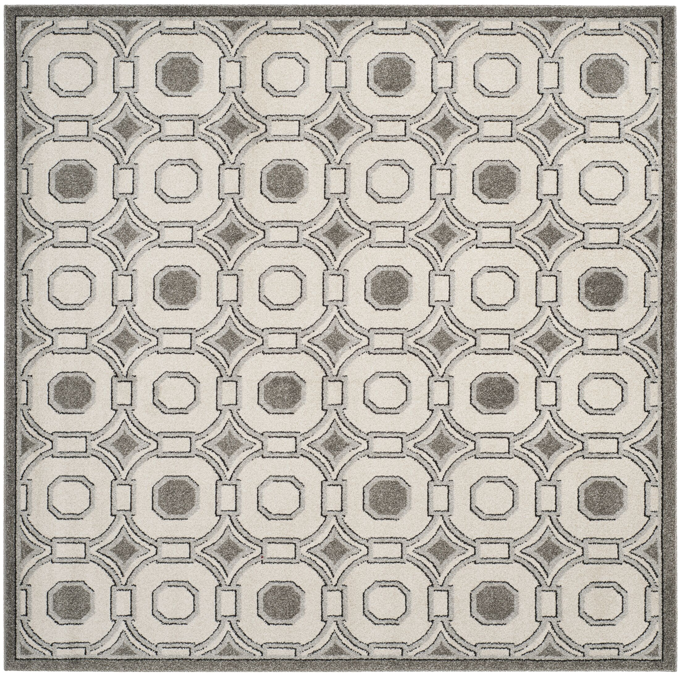 Maritza Ivory/Gray Wool Area Rug Rug Size: Square 7'
