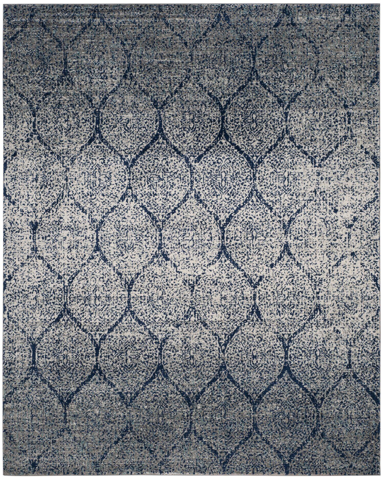 Grieve Blue/Gray Area Rug Rug Size: Rectangle 6'7