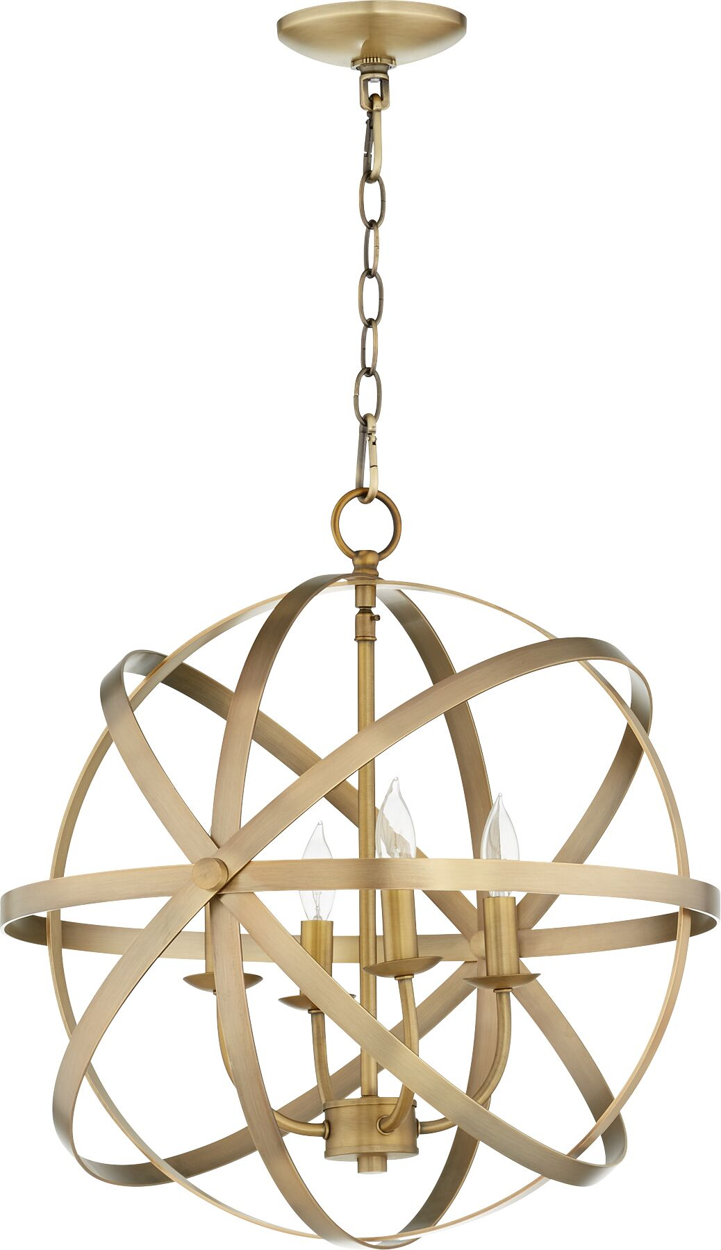 Dian 4-Light Globe Chandelier Finish: Aged Brass