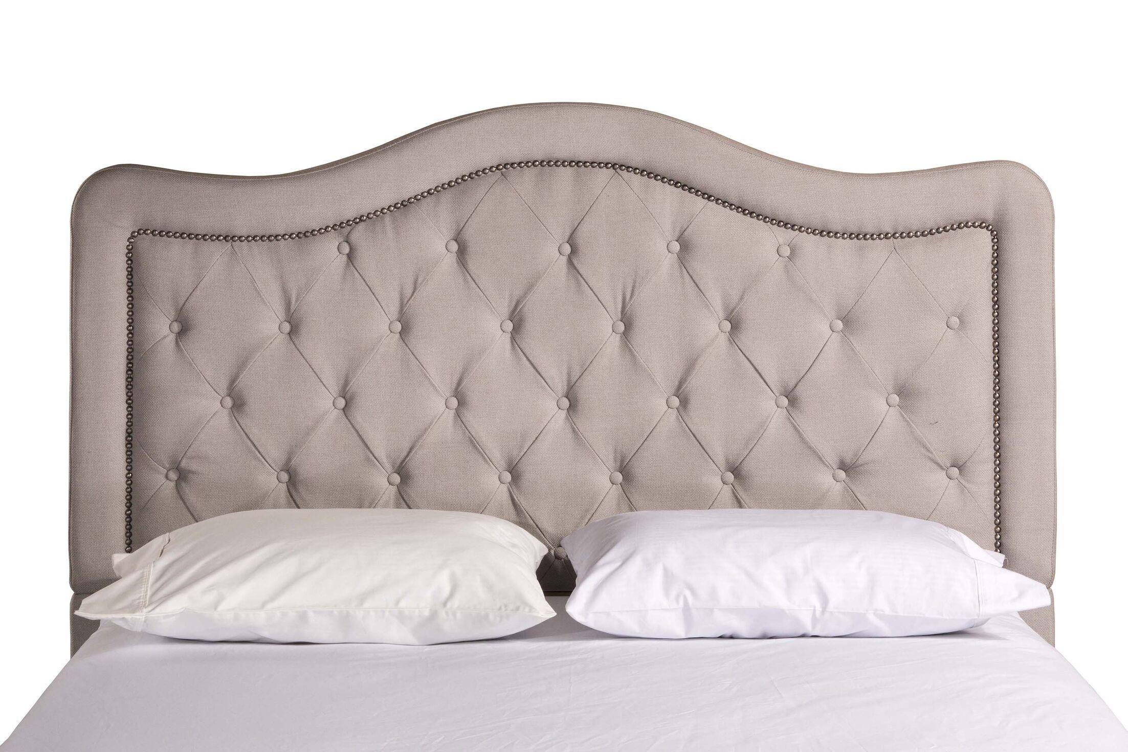 Broxburne Upholstered Panel Headboard Upholstery: Dove Gray, Size: California King