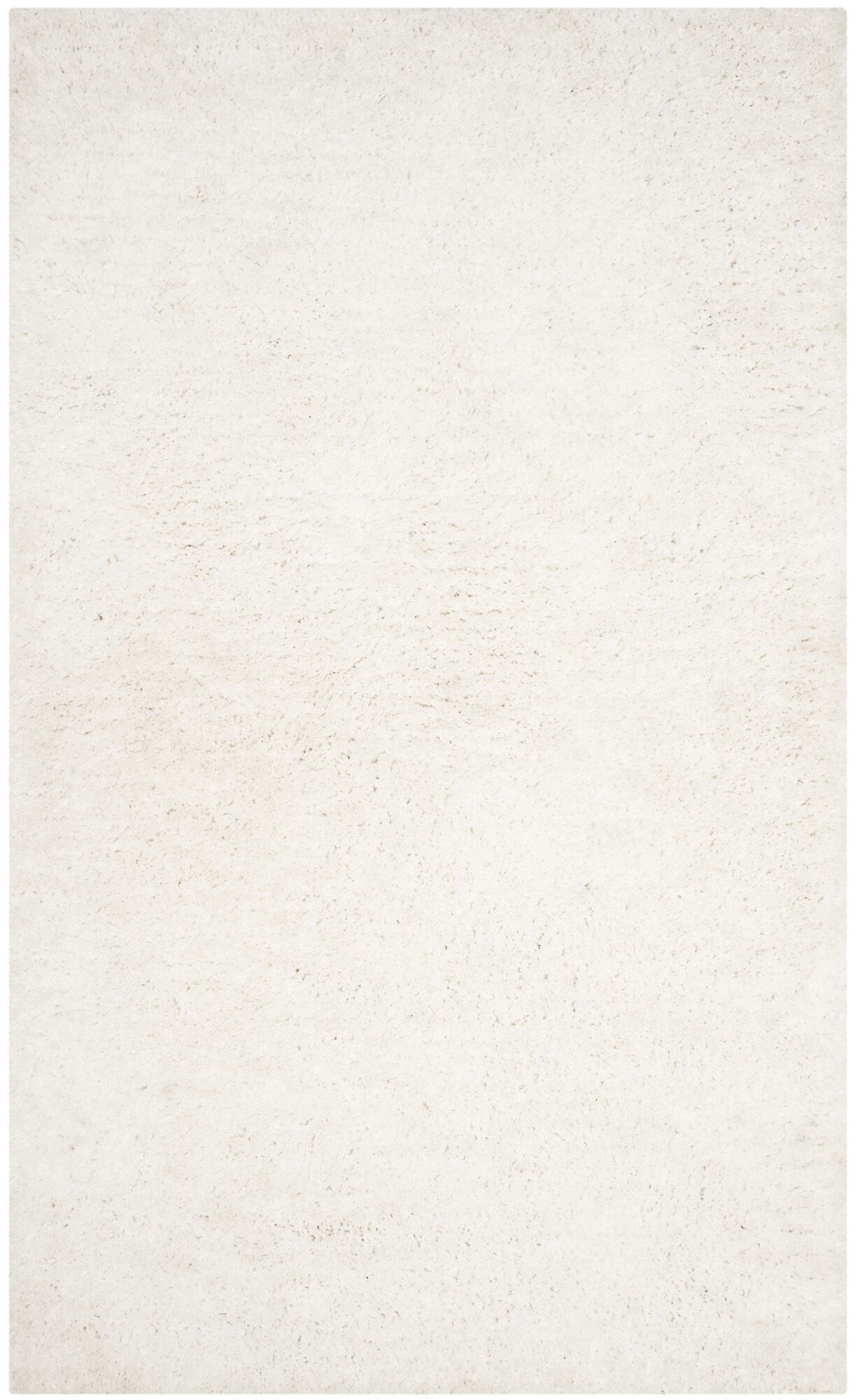 Bilgarrie Hand-Tufted White Area Rug Rug Size: Rectangle 5' x 8'