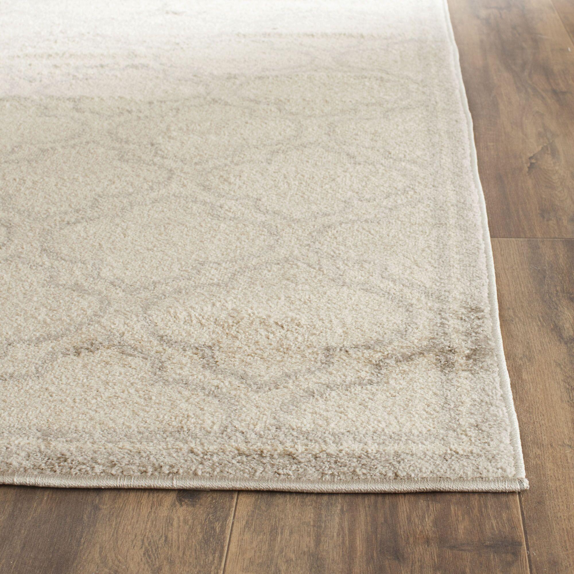 Maritza Geometric Ivory/Light Gray Indoor/Outdoor Area Rug Rug Size: Rectangle 5' x 8'