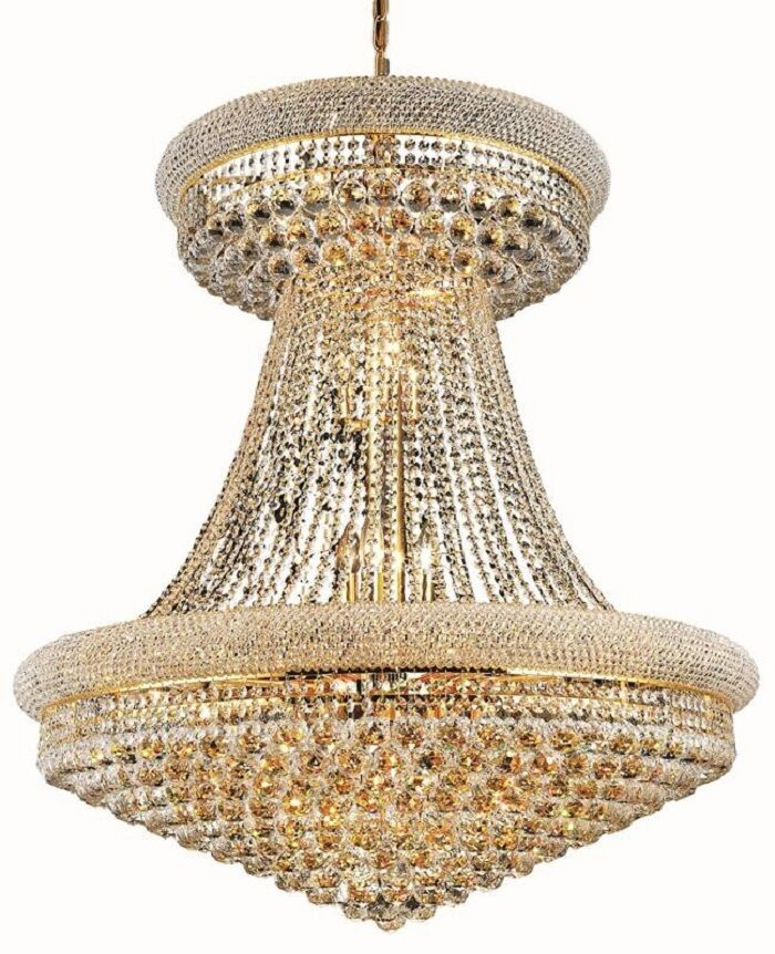 Jessenia 28-Light Empire Chandelier Finish: Gold, Crystal: Royal Cut
