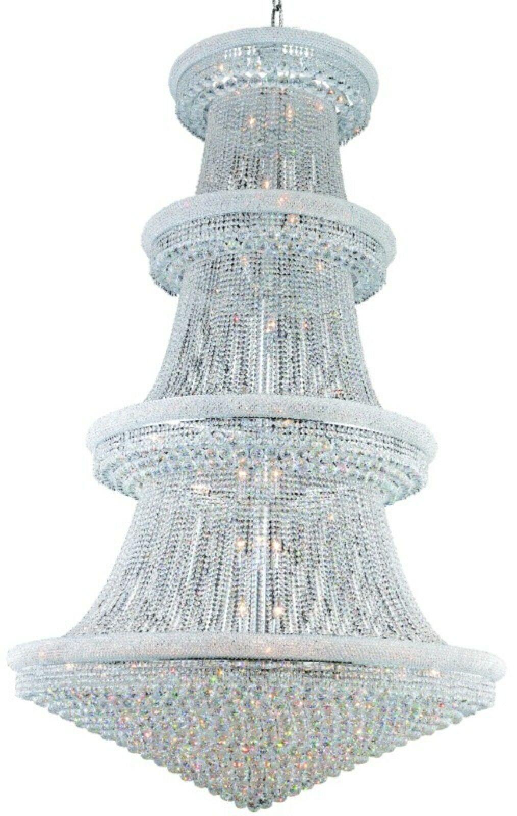 Jessenia 48-Light Chandelier Crystal: Spectra Swarovski, Finish: Chrome