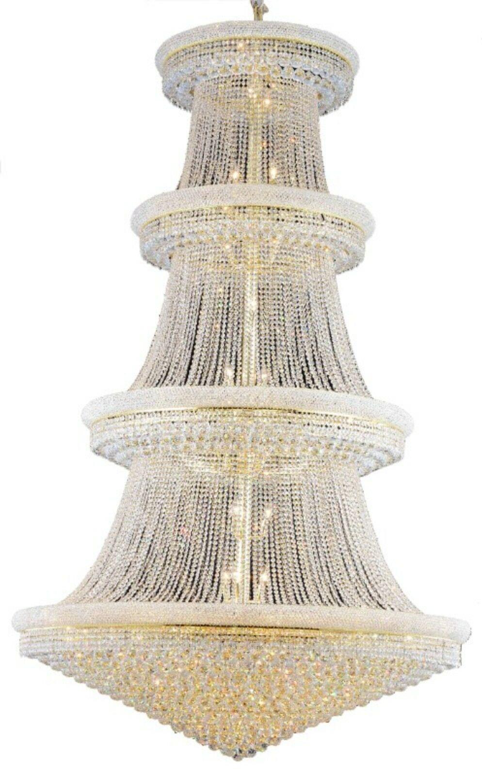 Jessenia 56-Light Chandelier Crystal: Swarovski Elements, Finish: Gold