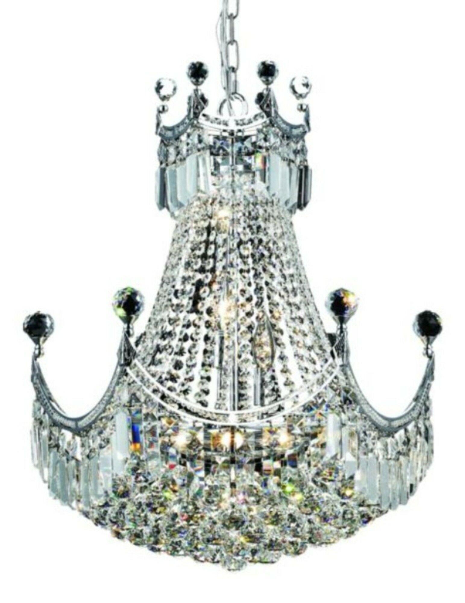 Kasha 9-Light Chandelier Finish: Chrome, Crystal: Elegant Cut