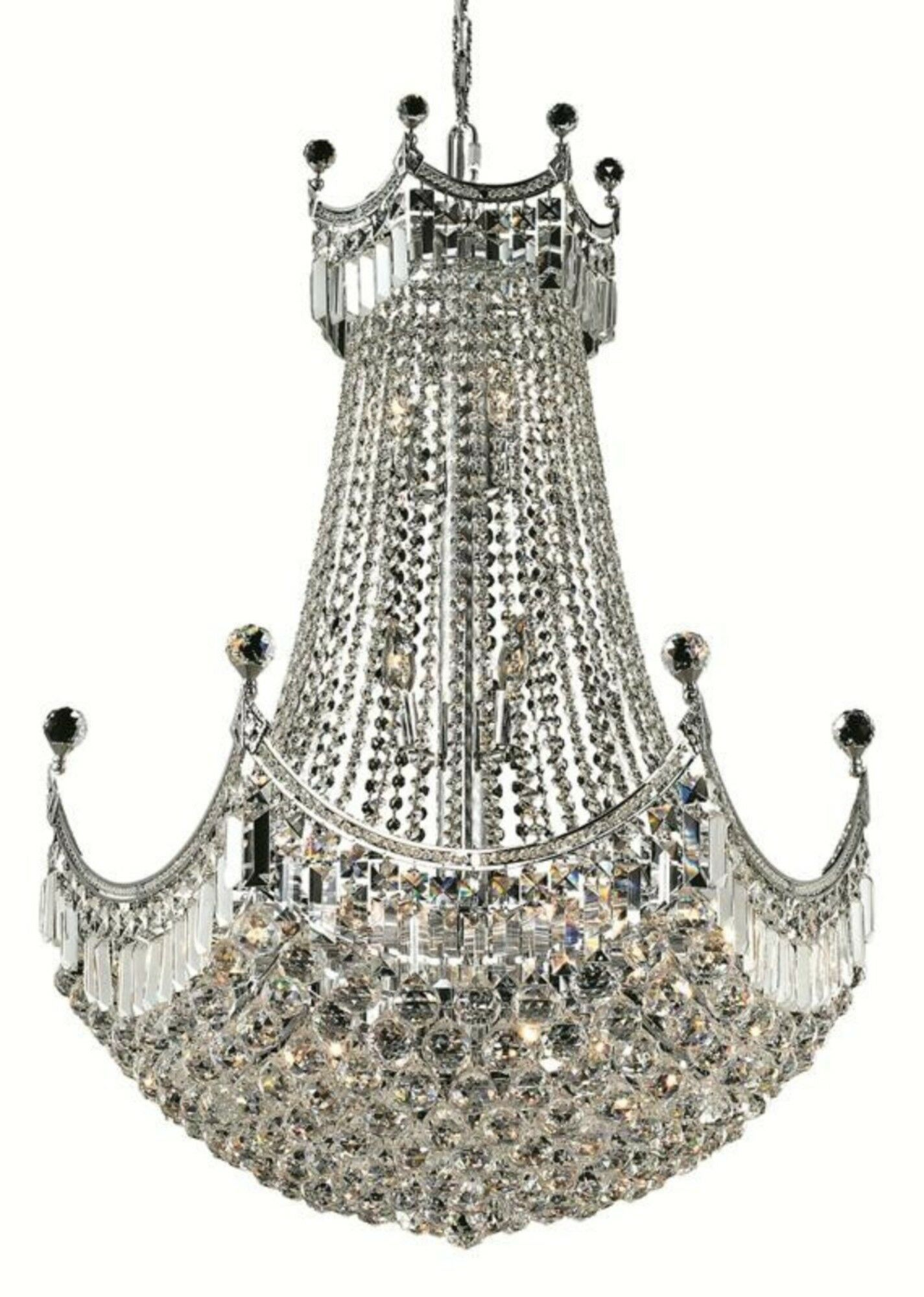 Kasha 24-Light Empire Chandelier Finish: Chrome, Crystal: Royal Cut