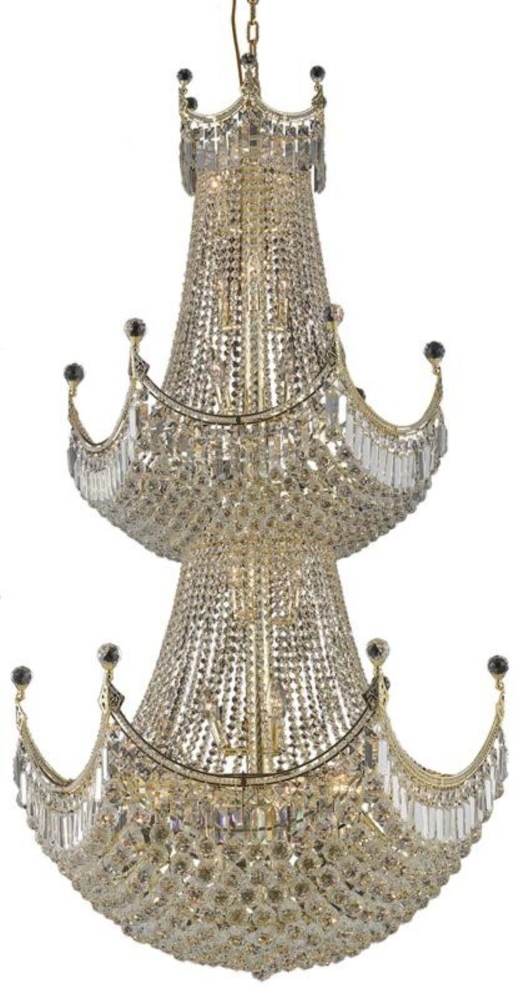 Kasha 36-Light Empire Chandelier Finish: Gold, Crystal: Elegant Cut