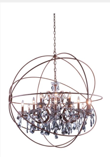 Svante 18-Light Globe Pendant Crystal: Crystal (Clear), Finish: Rustic Intent