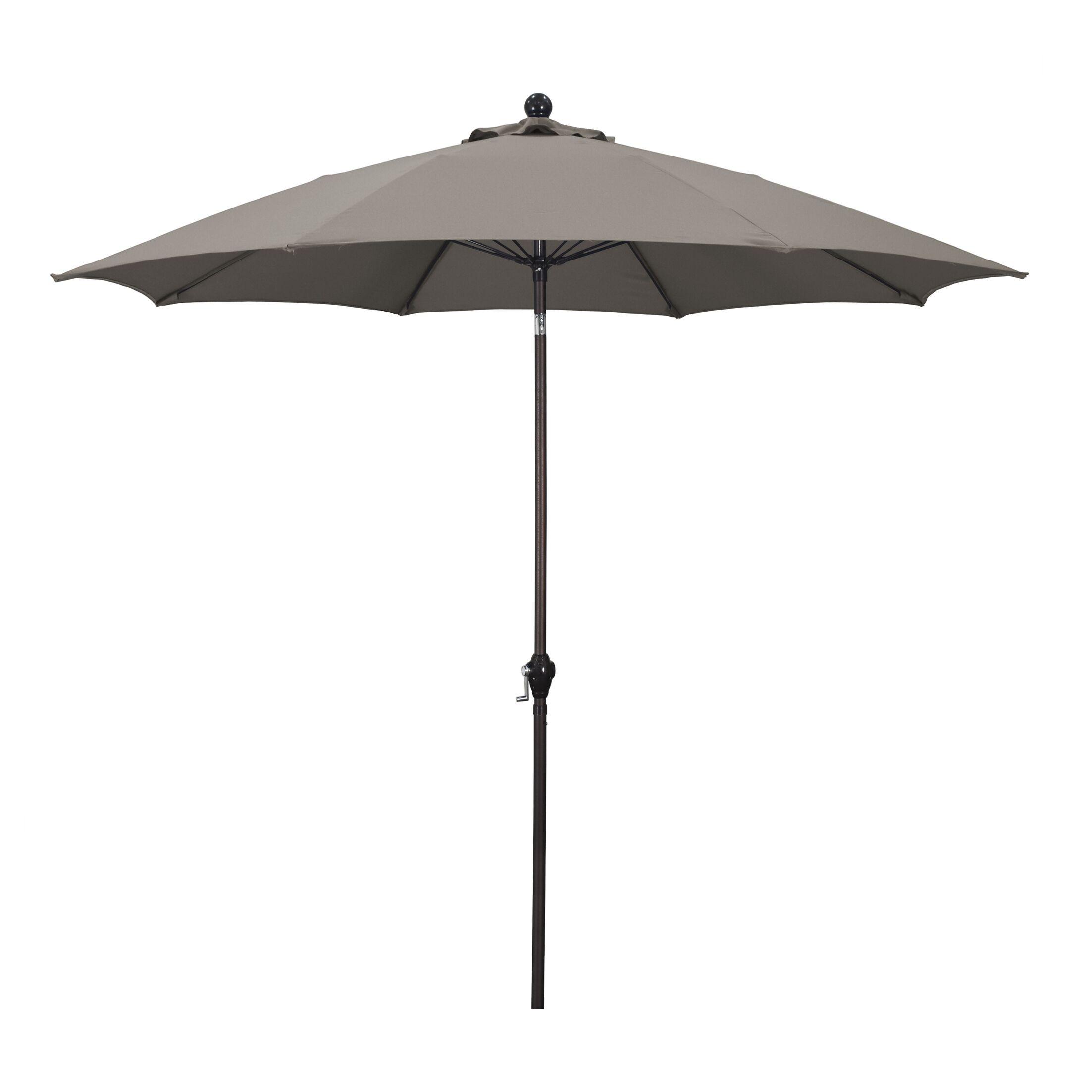 9' Market Umbrella Fabric: Polyester Taupe