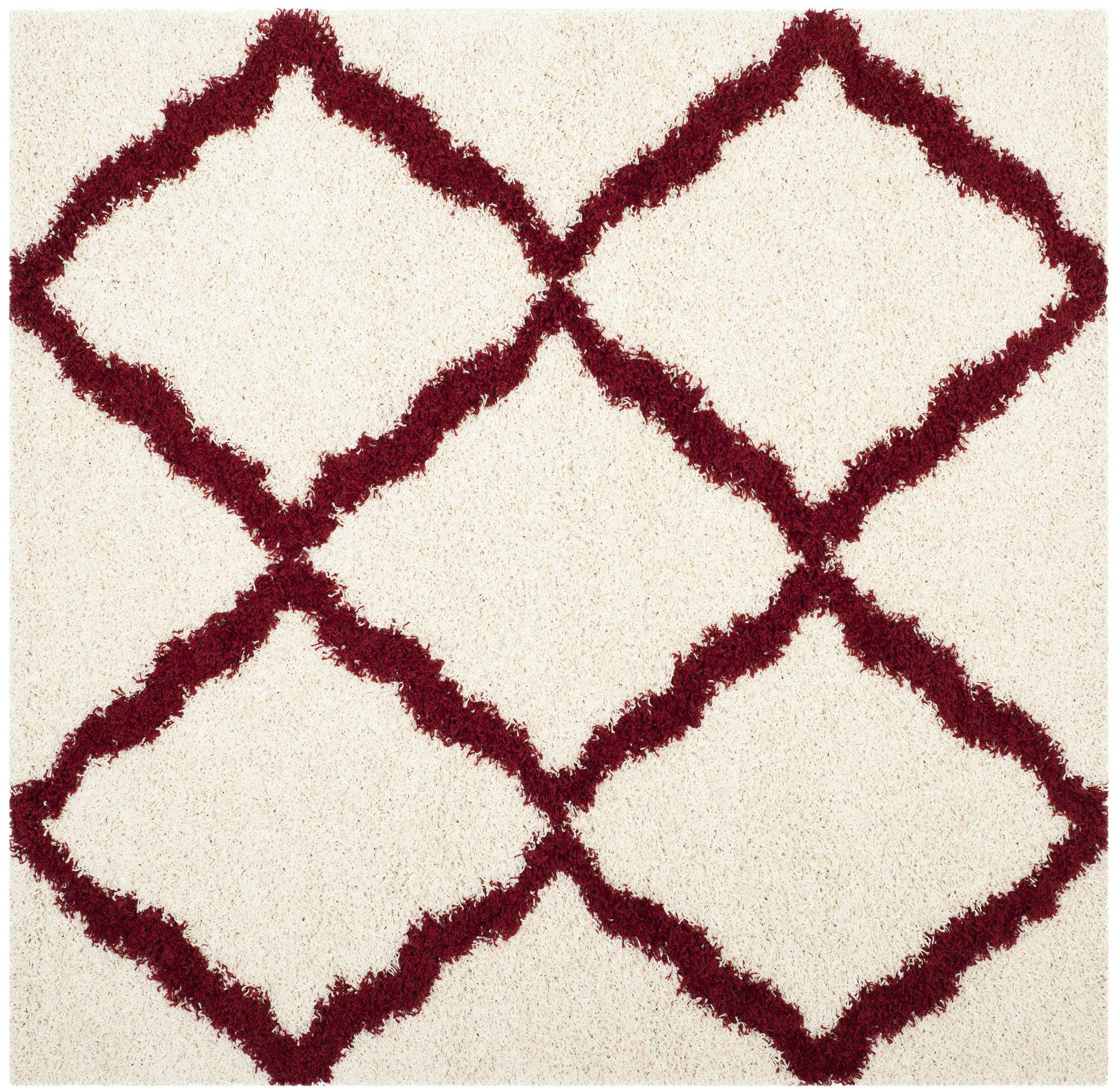 , Square 6' x 6' Charmain Ivory Area Rug