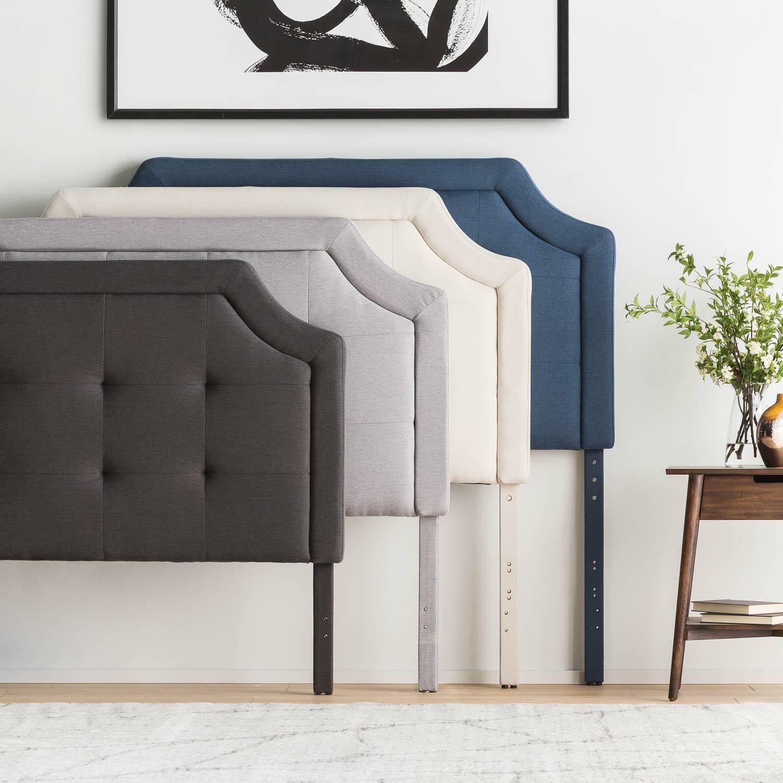 Fleurette Upholstered Panel Headboard Size: Twin/Twin XL, Upholstery: Navy