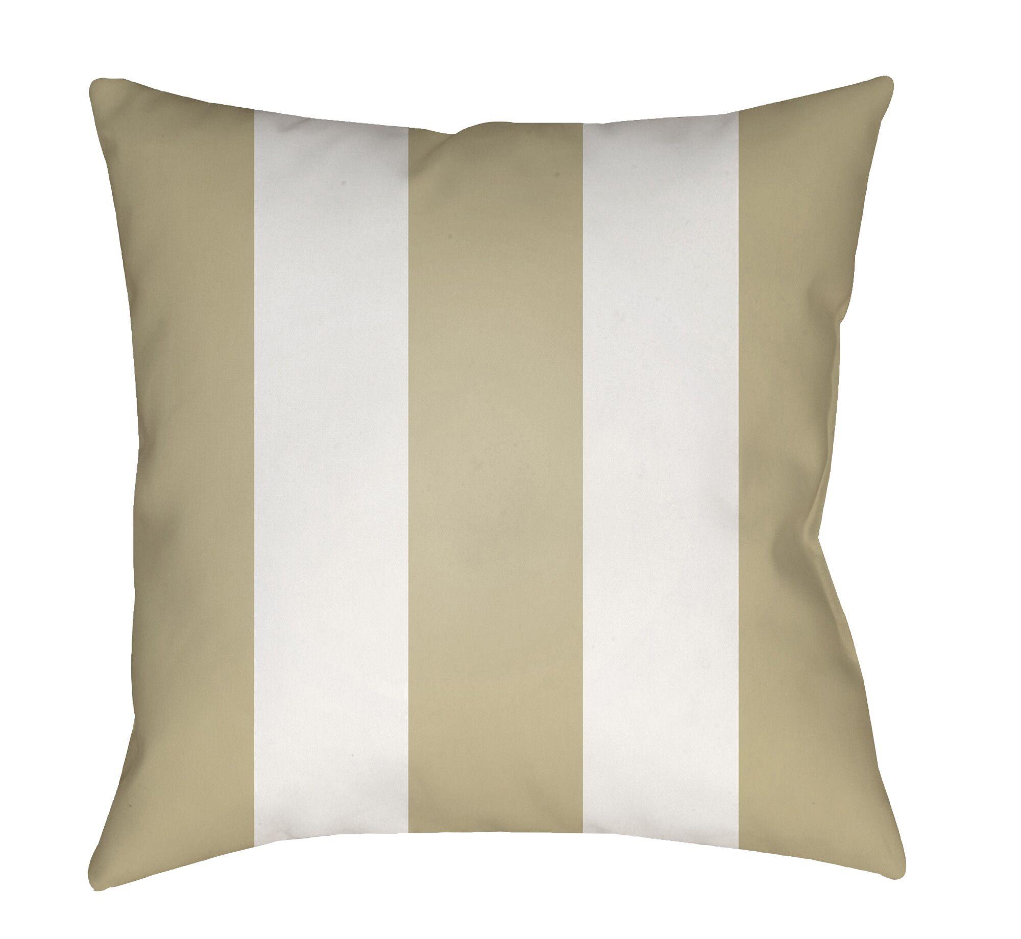 Chardae Pillow-Black & White Vertical Stripe Size: 20