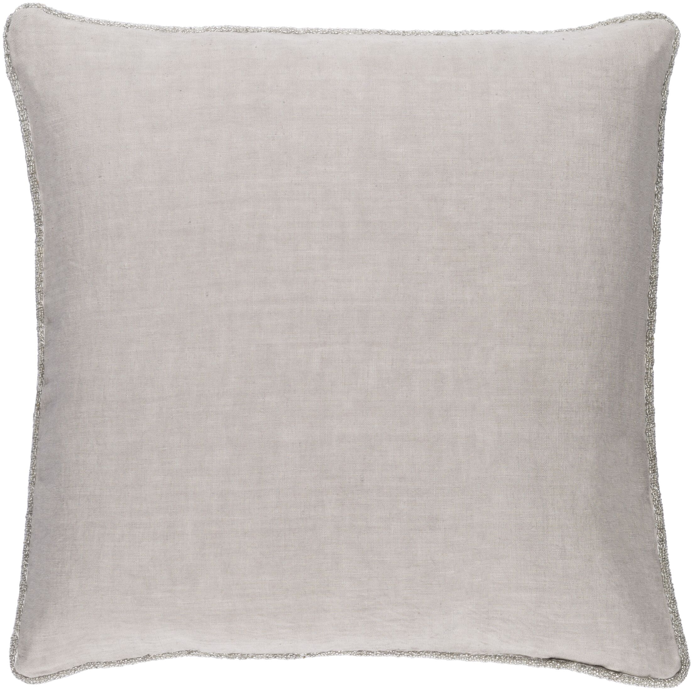 Sera Down Throw Pillow Color: Light Gray, Size: 20