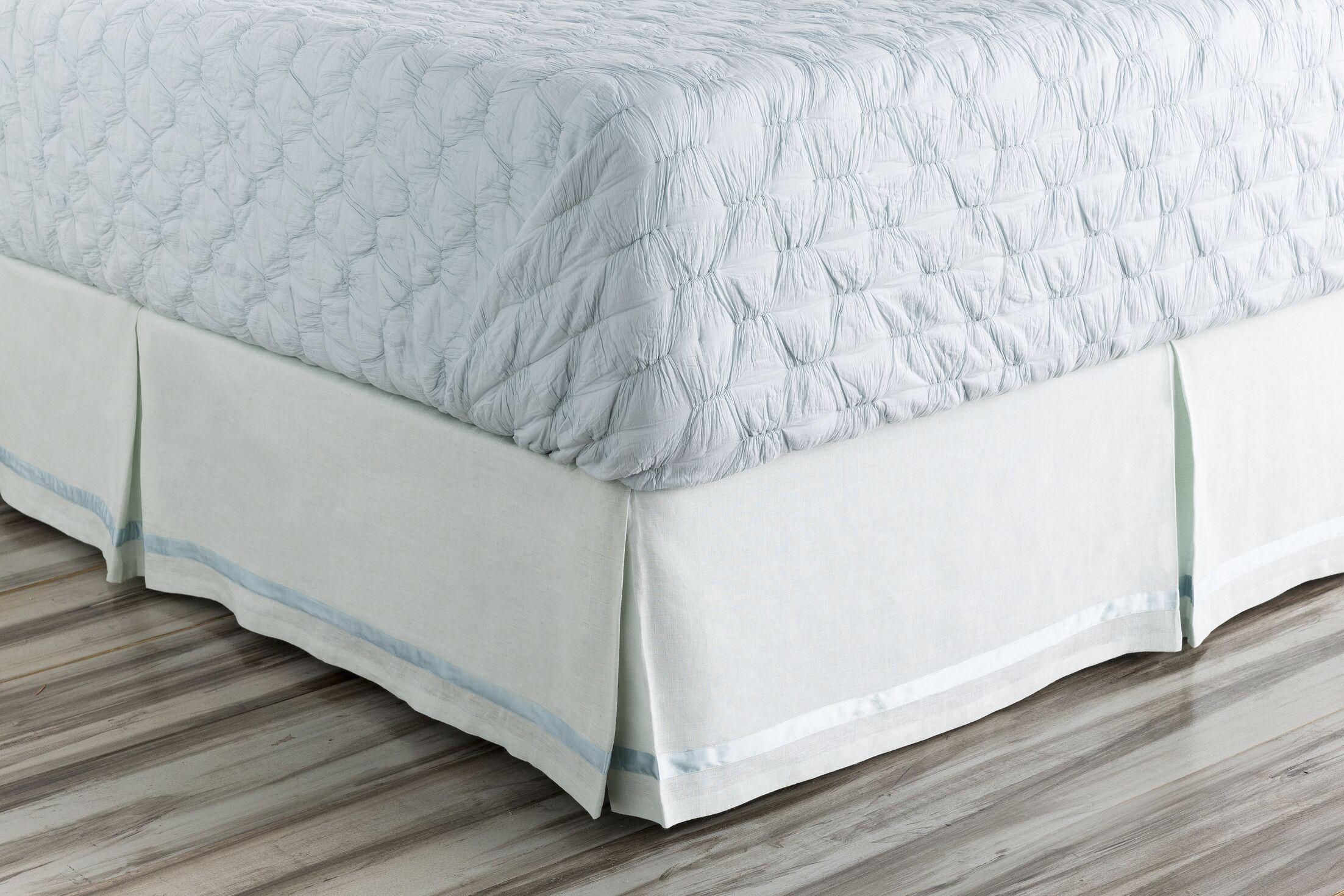 Shetler Bed Skirt Size: Queen, Color: Blue