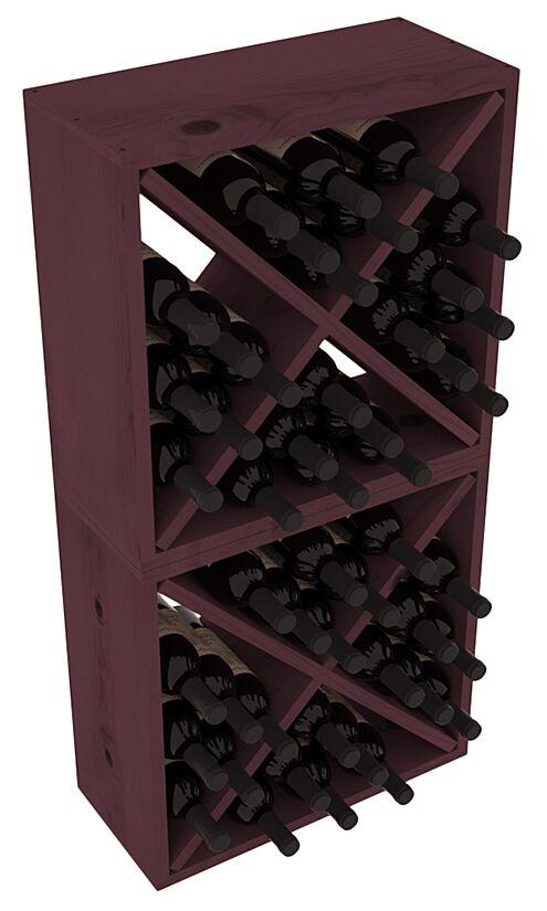 Karnes Pine Rustic Cube 48 Bottle Floor Wine Rack Finish: Burgundy
