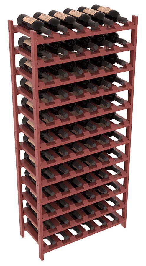 Karnes Pine Stackable 72 Bottle Floor Wine Rack Finish: Cherry Satin