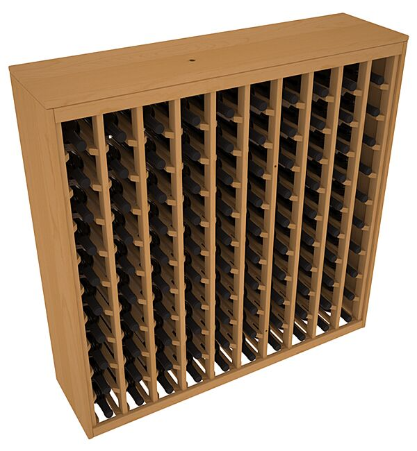 Karnes Pine Deluxe 100 Bottle Floor Wine Rack Finish: Oak