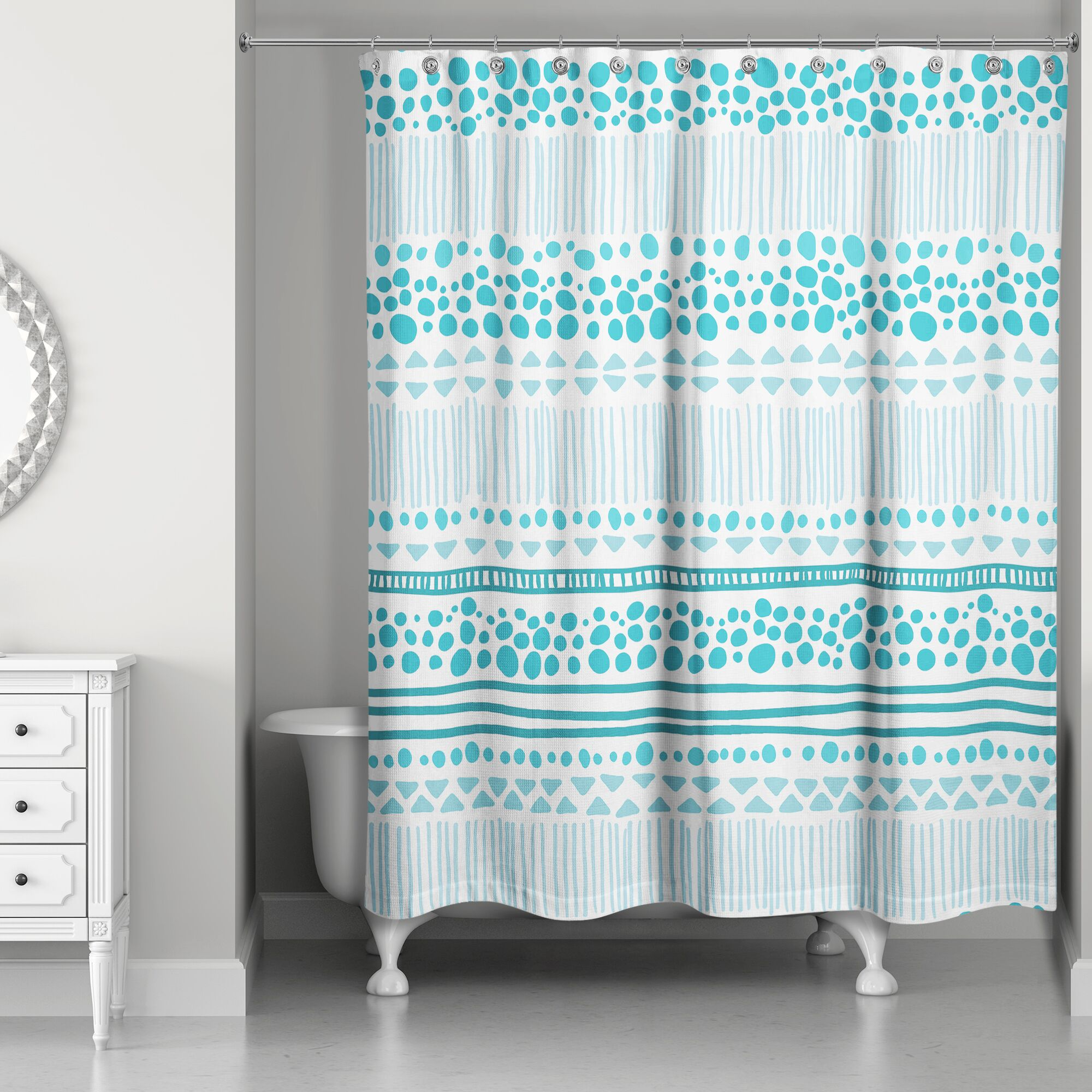 Presnell Tribal Print Shower Curtain
