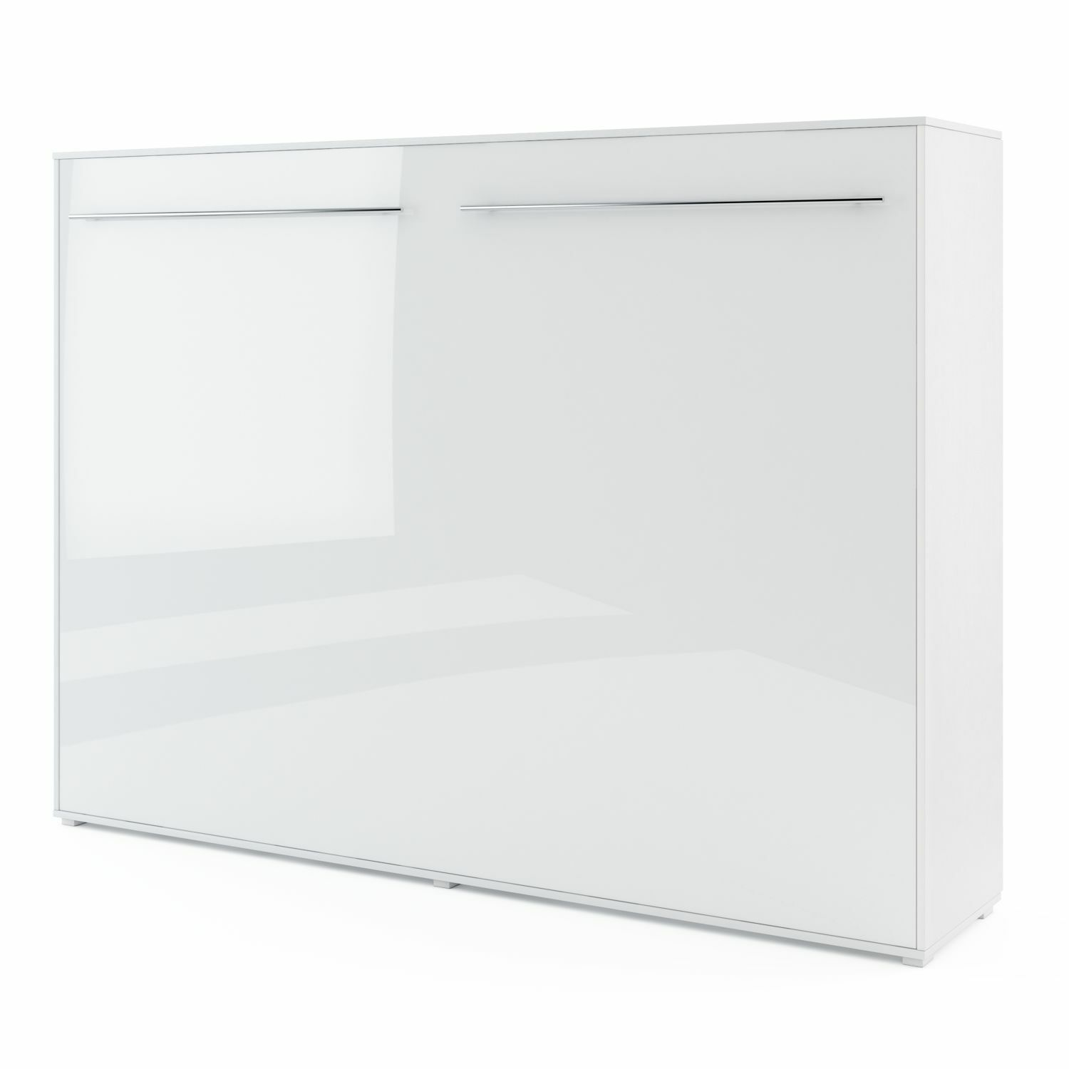 Van Wyck Murphy Bed with Mattress Size: Full XL, Color: White Gloss